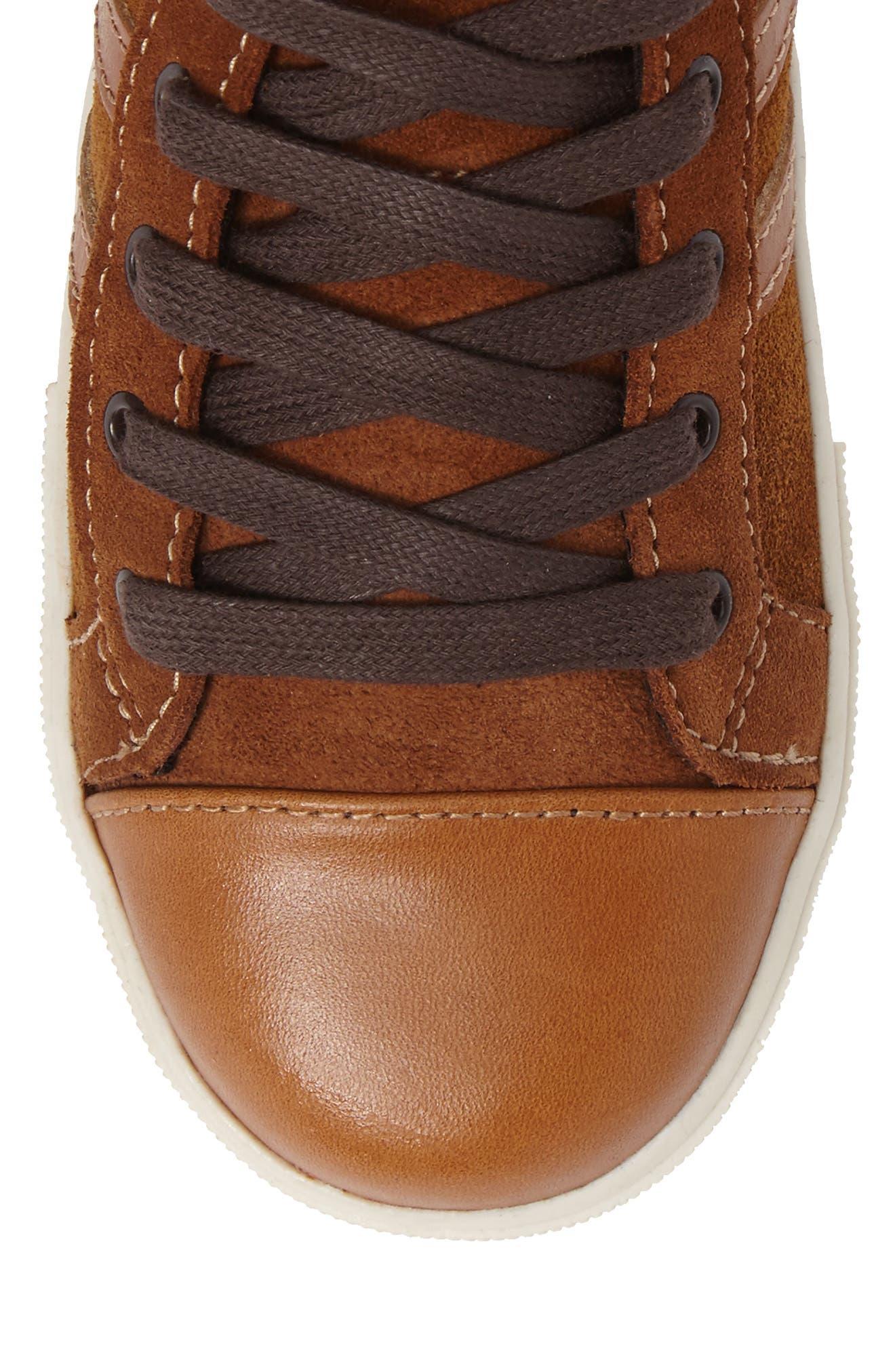Jay Top High-Top Zip Sneaker,                             Alternate thumbnail 5, color,                             205