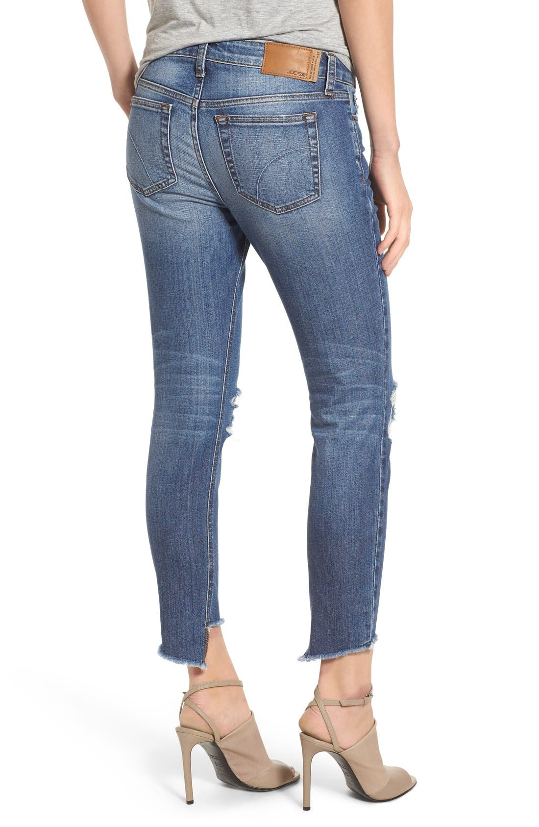'Collector's - Blondie' Destroyed Ankle Skinny Jeans,                             Alternate thumbnail 2, color,                             410