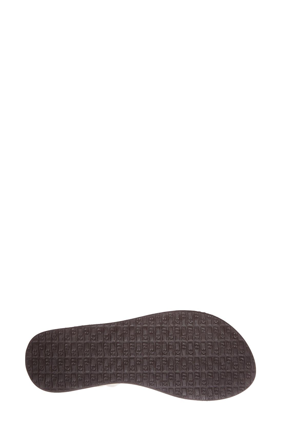 'Yoga Metallic Sling' Sandal,                             Alternate thumbnail 4, color,                             650
