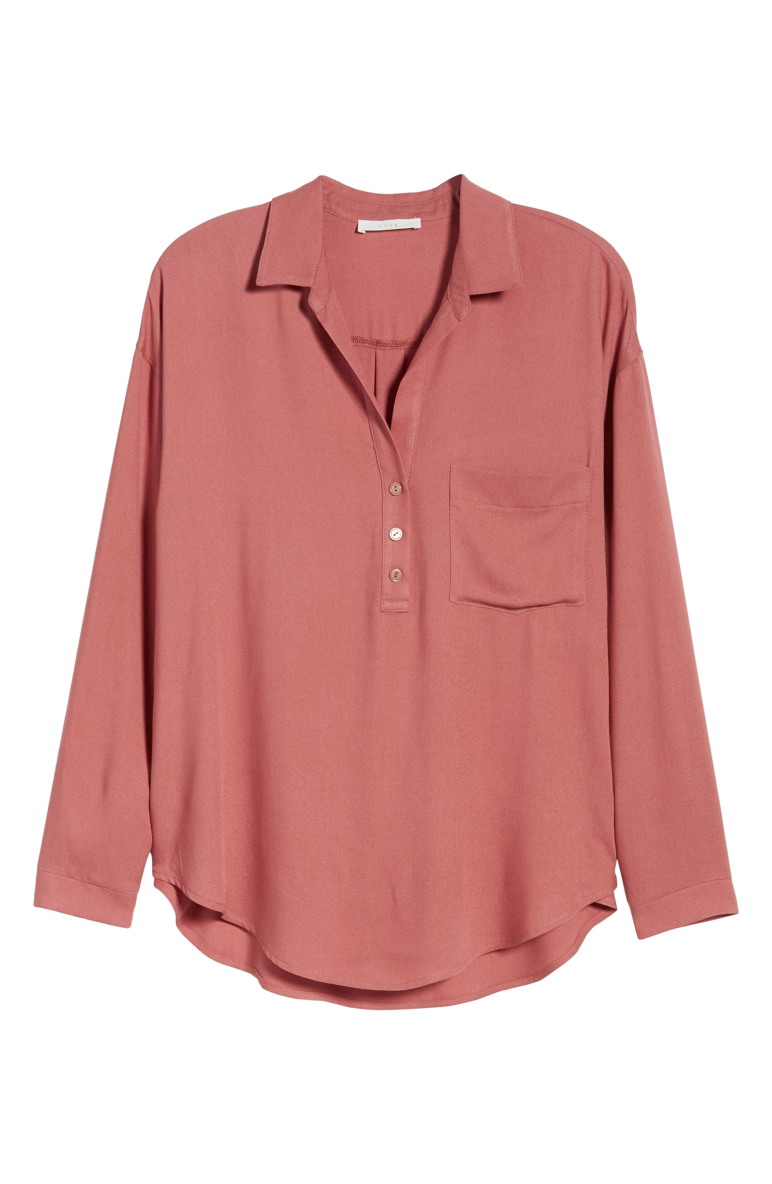 Slouchy Pocket Henley,                             Alternate thumbnail 35, color,