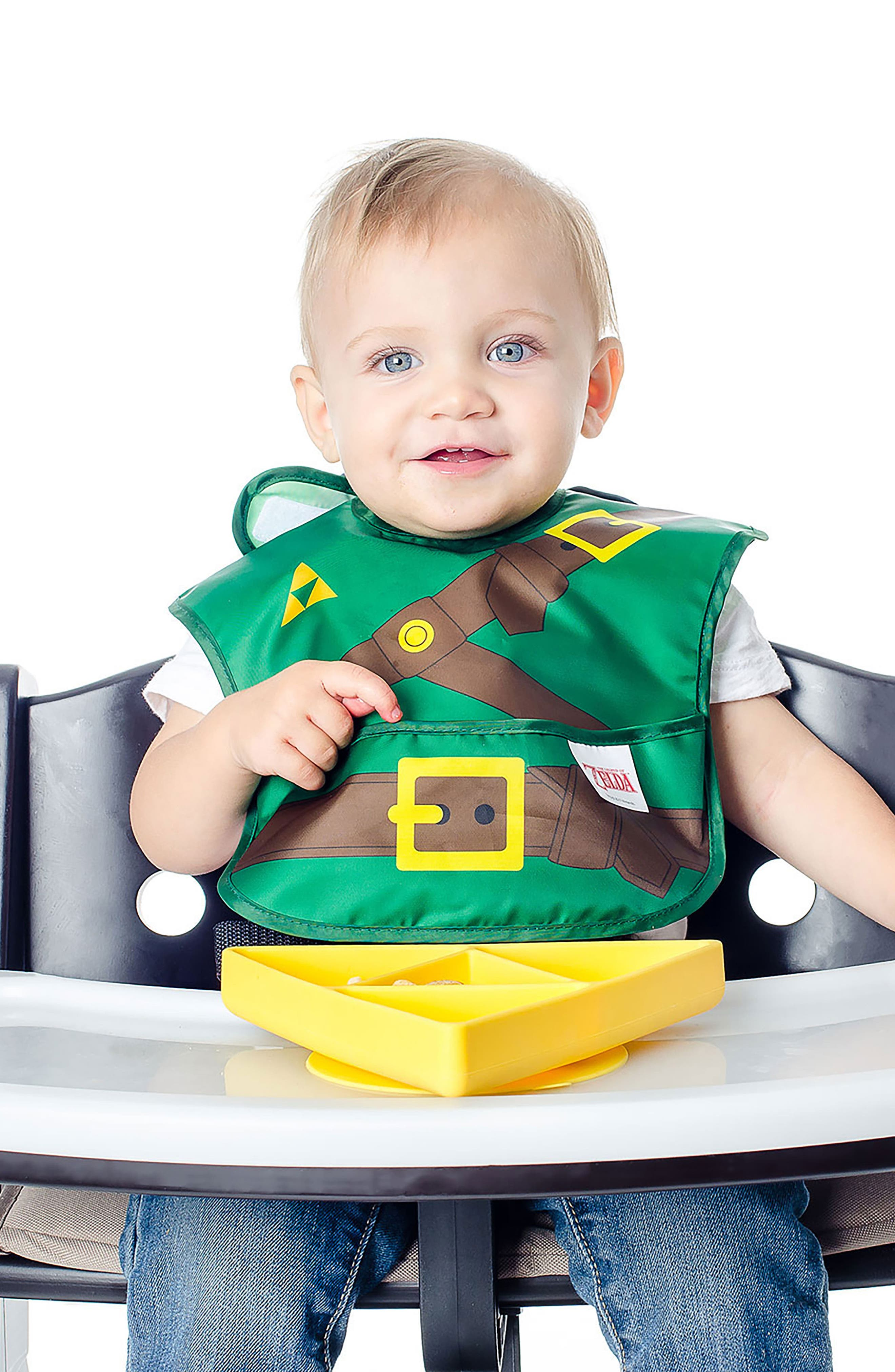 The Legend of Zelda Grip Dish & Caped SuperBib Set,                             Alternate thumbnail 9, color,