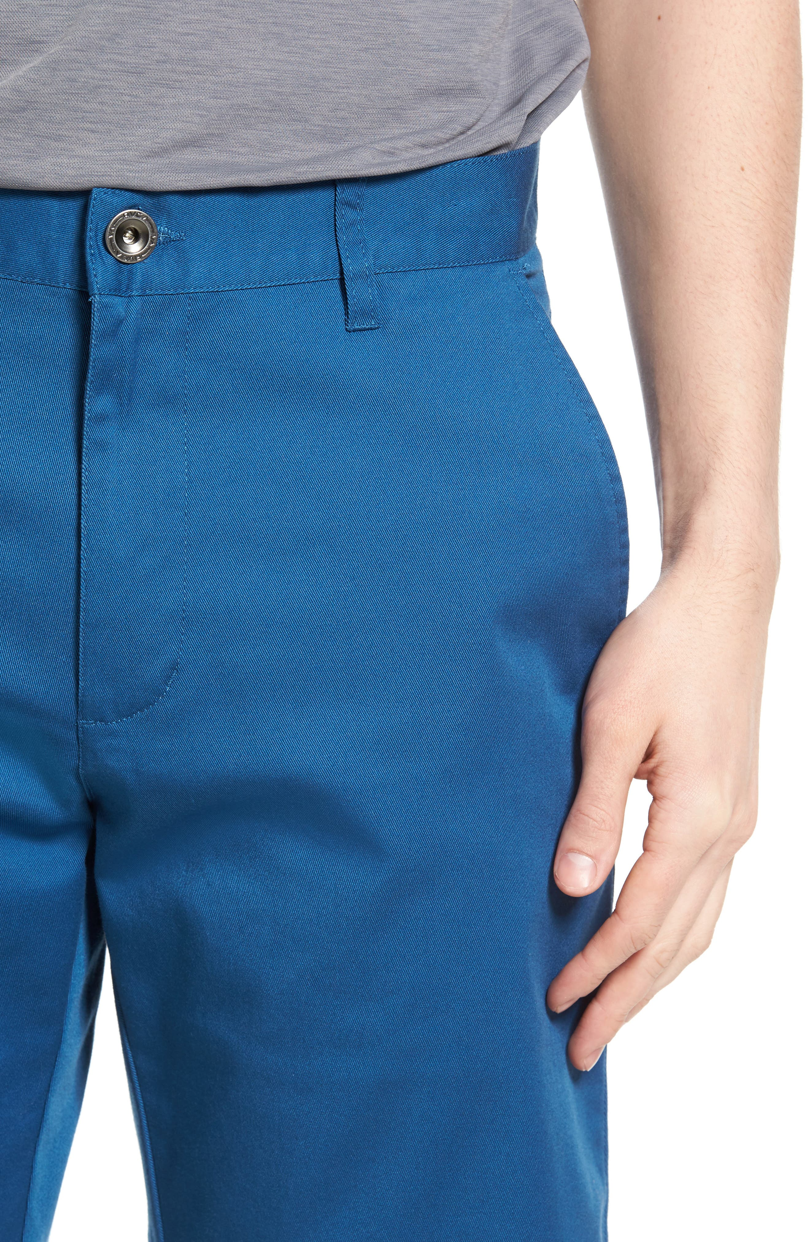 The Week-End Stretch Twill Chino Shorts,                             Alternate thumbnail 4, color,                             DARK BLUE
