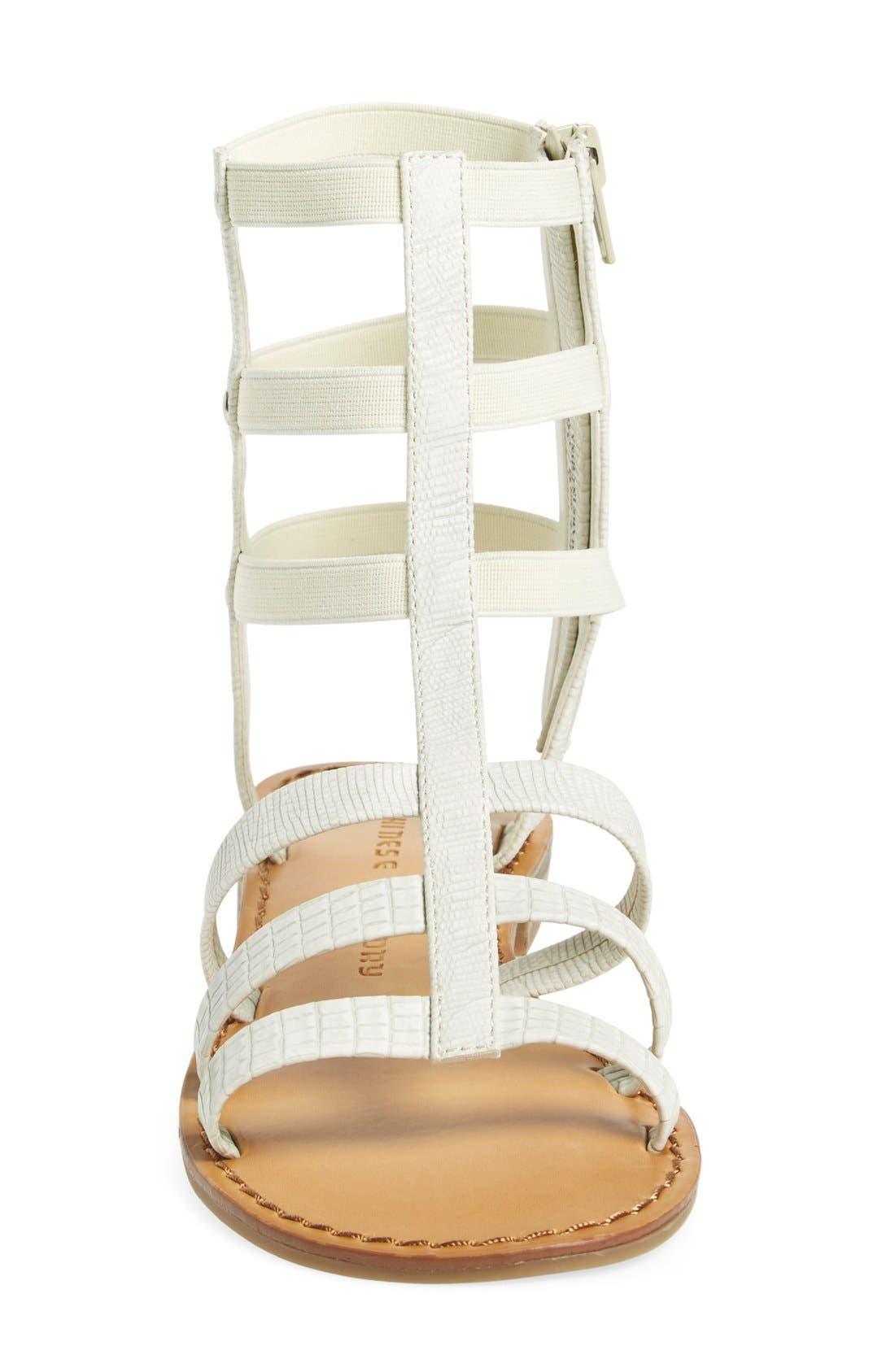 'Gemma' Gladiator Sandal,                             Alternate thumbnail 4, color,                             100
