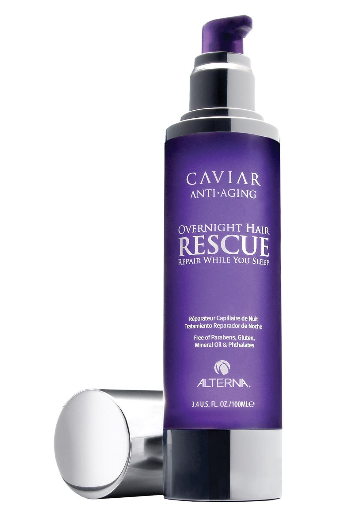 Caviar Anti-Aging Overnight Hair Rescue Hair Treatment,                             Main thumbnail 1, color,                             000