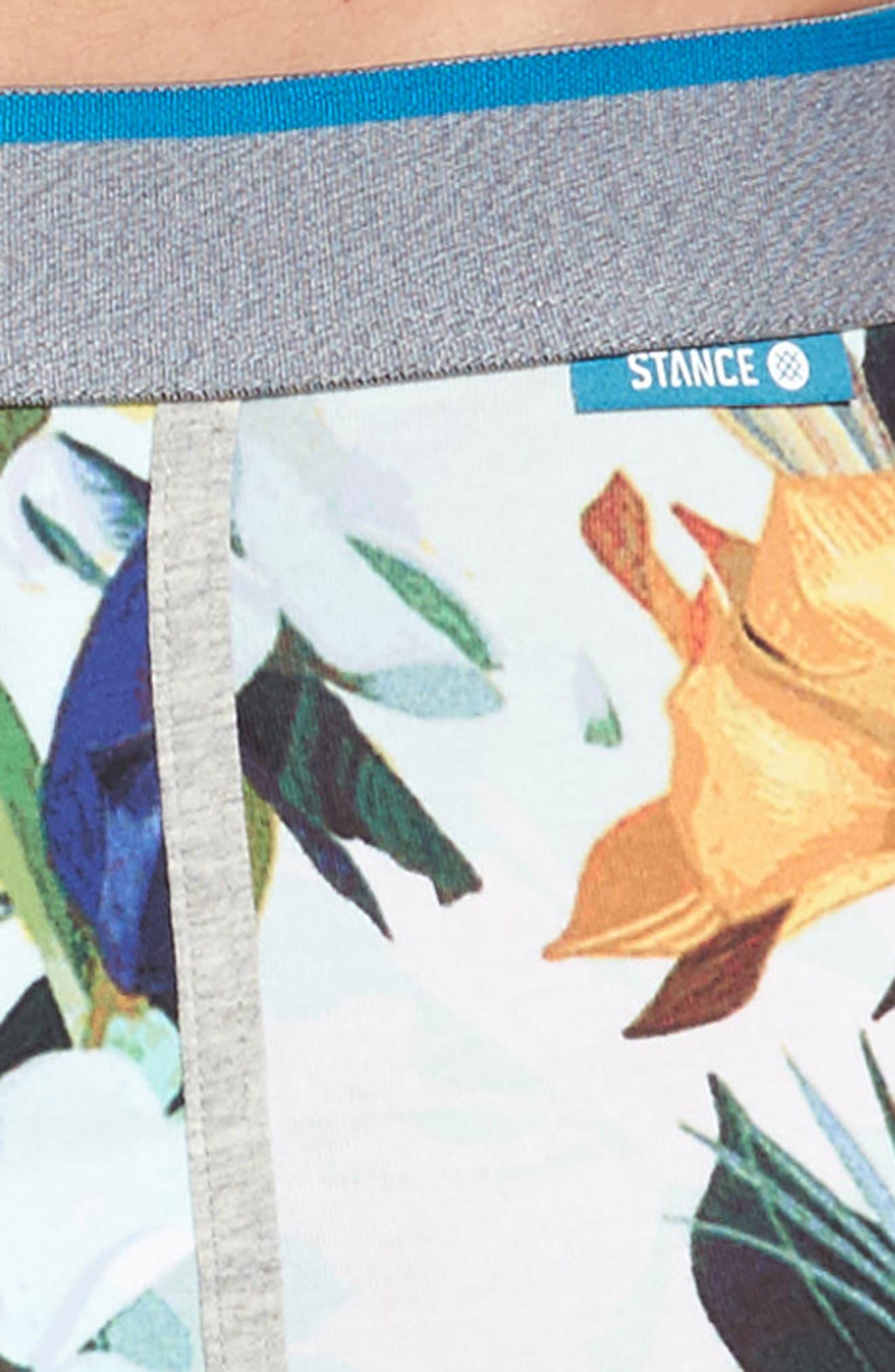 Aqua Floral Boxer Briefs,                             Alternate thumbnail 4, color,                             420