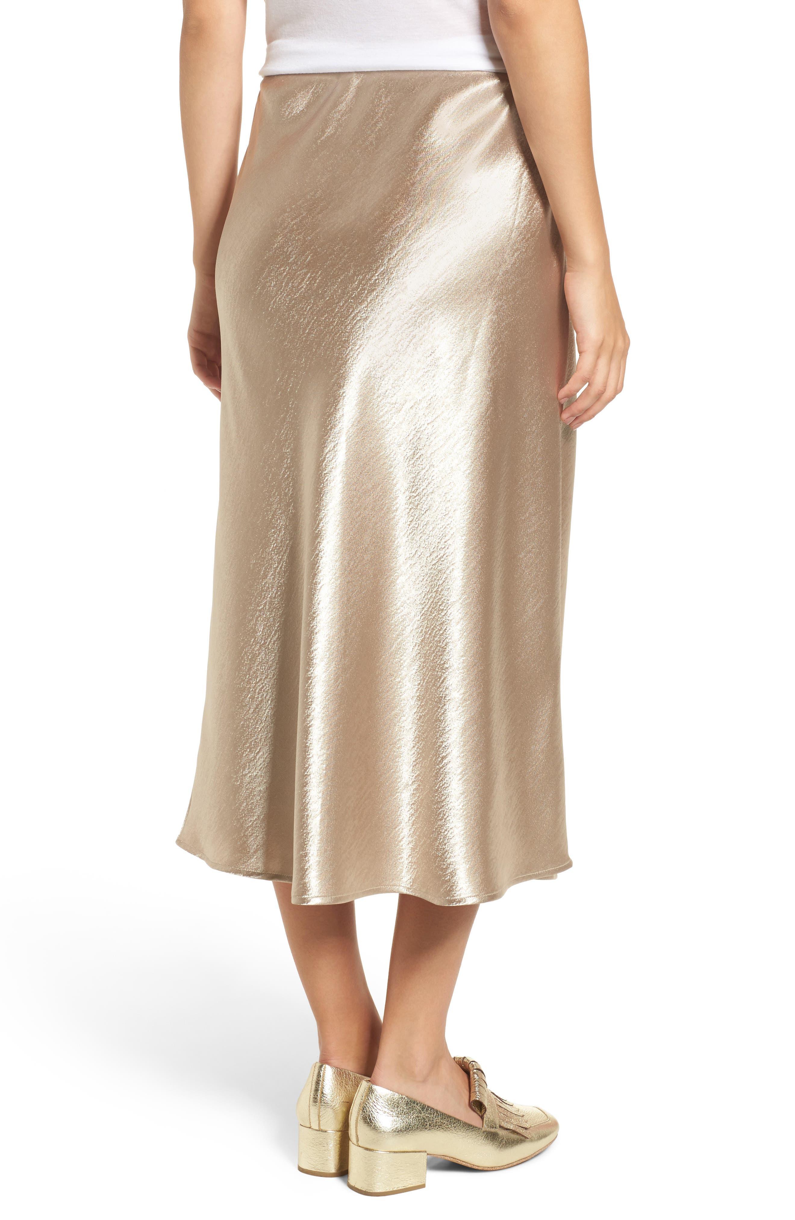 Satin Midi Skirt,                             Alternate thumbnail 4, color,