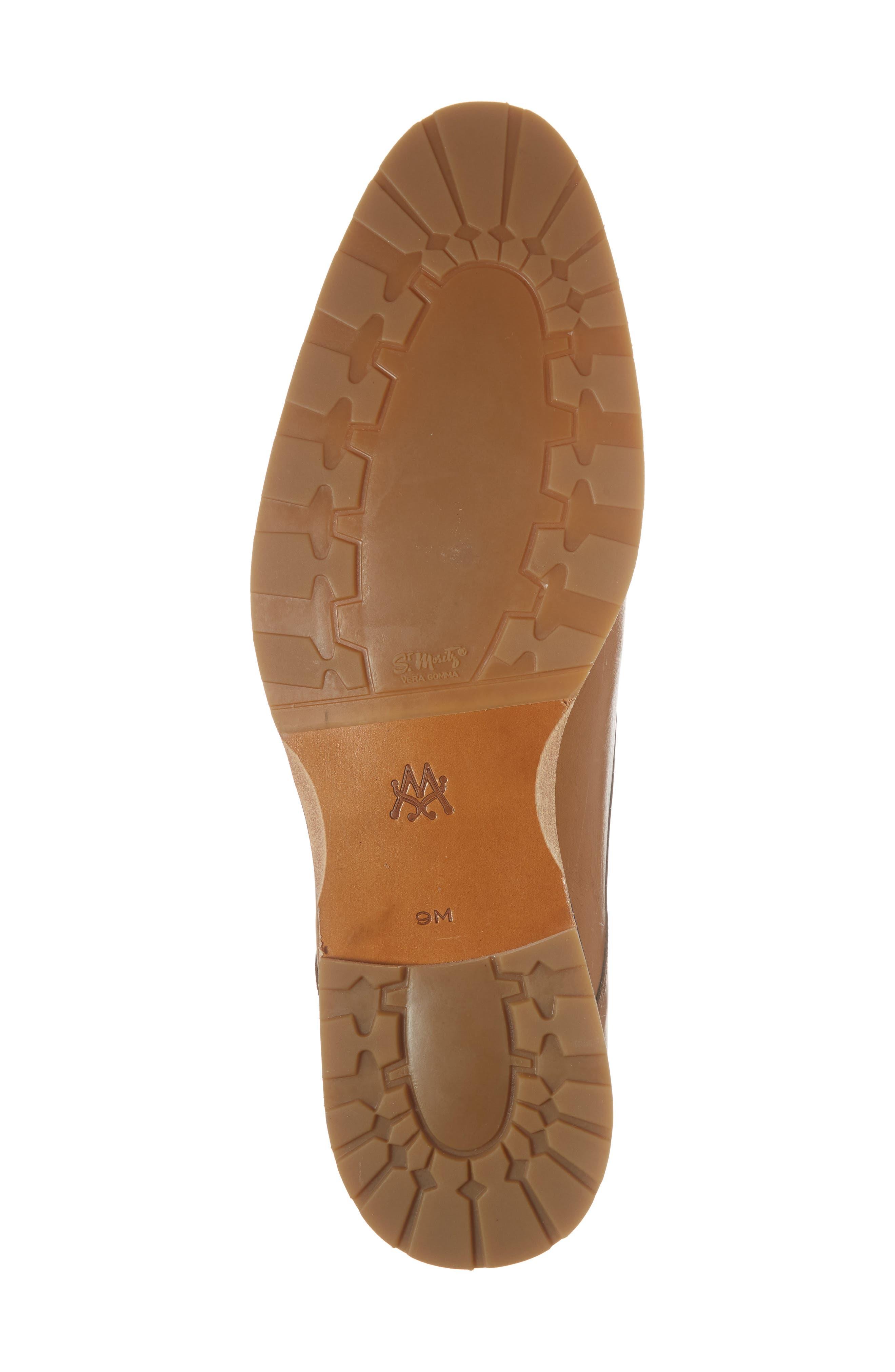 Apolo Double Buckle Monk Shoe,                             Alternate thumbnail 6, color,                             HONEY LEATHER