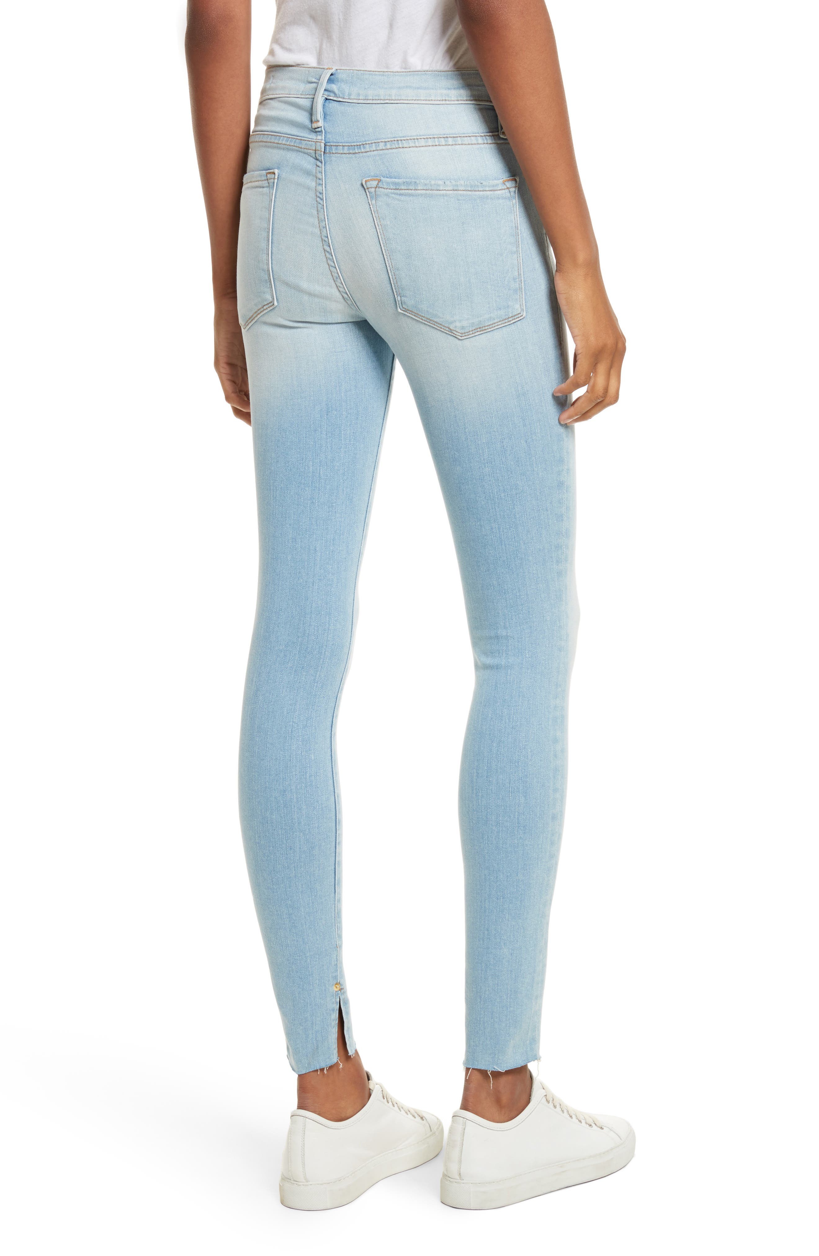 Le Skinny de Jeanne Raw Edge Skinny Jeans,                             Alternate thumbnail 2, color,                             450