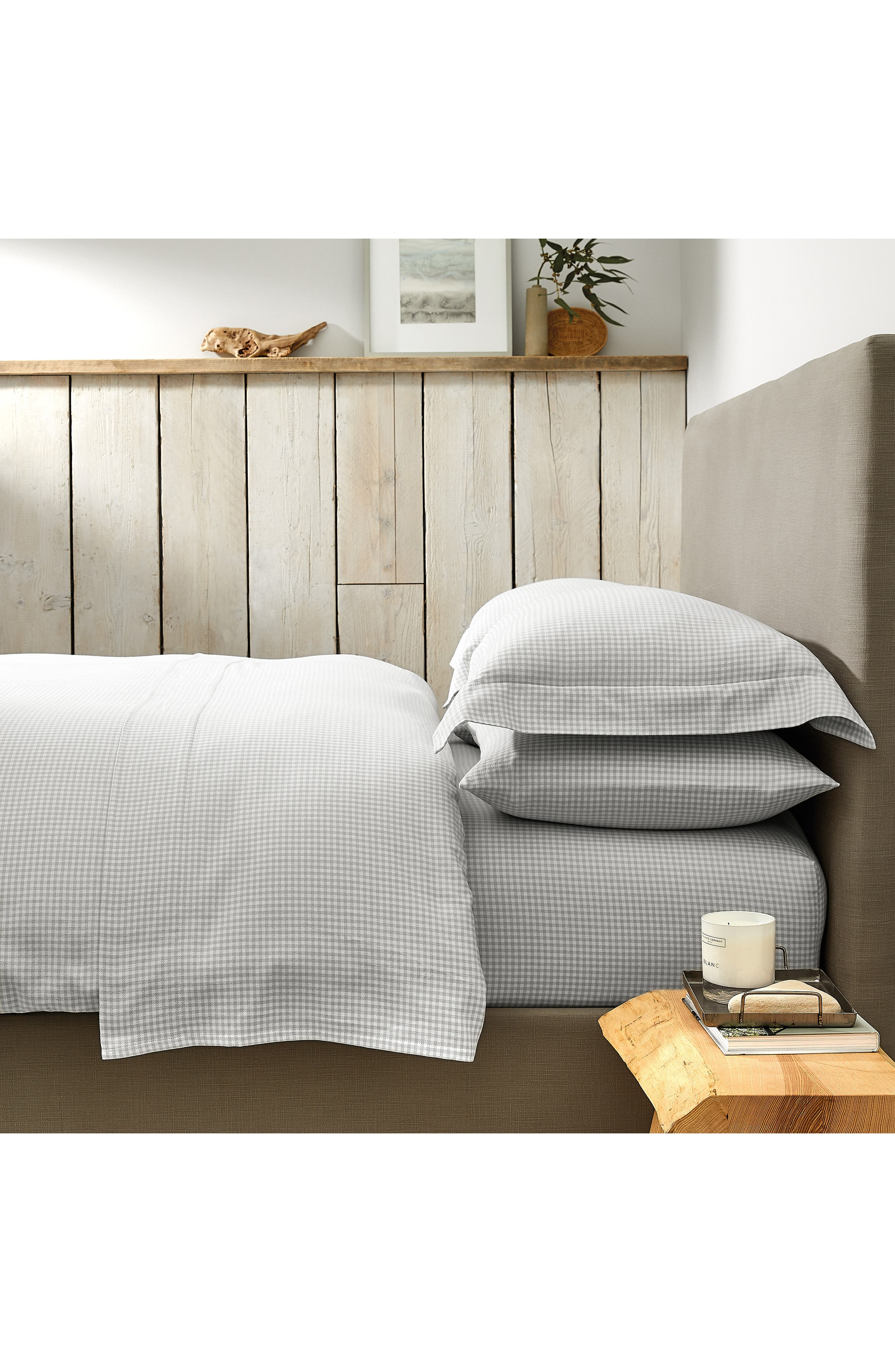 Harrington Flannel Duvet Cover by The White Company