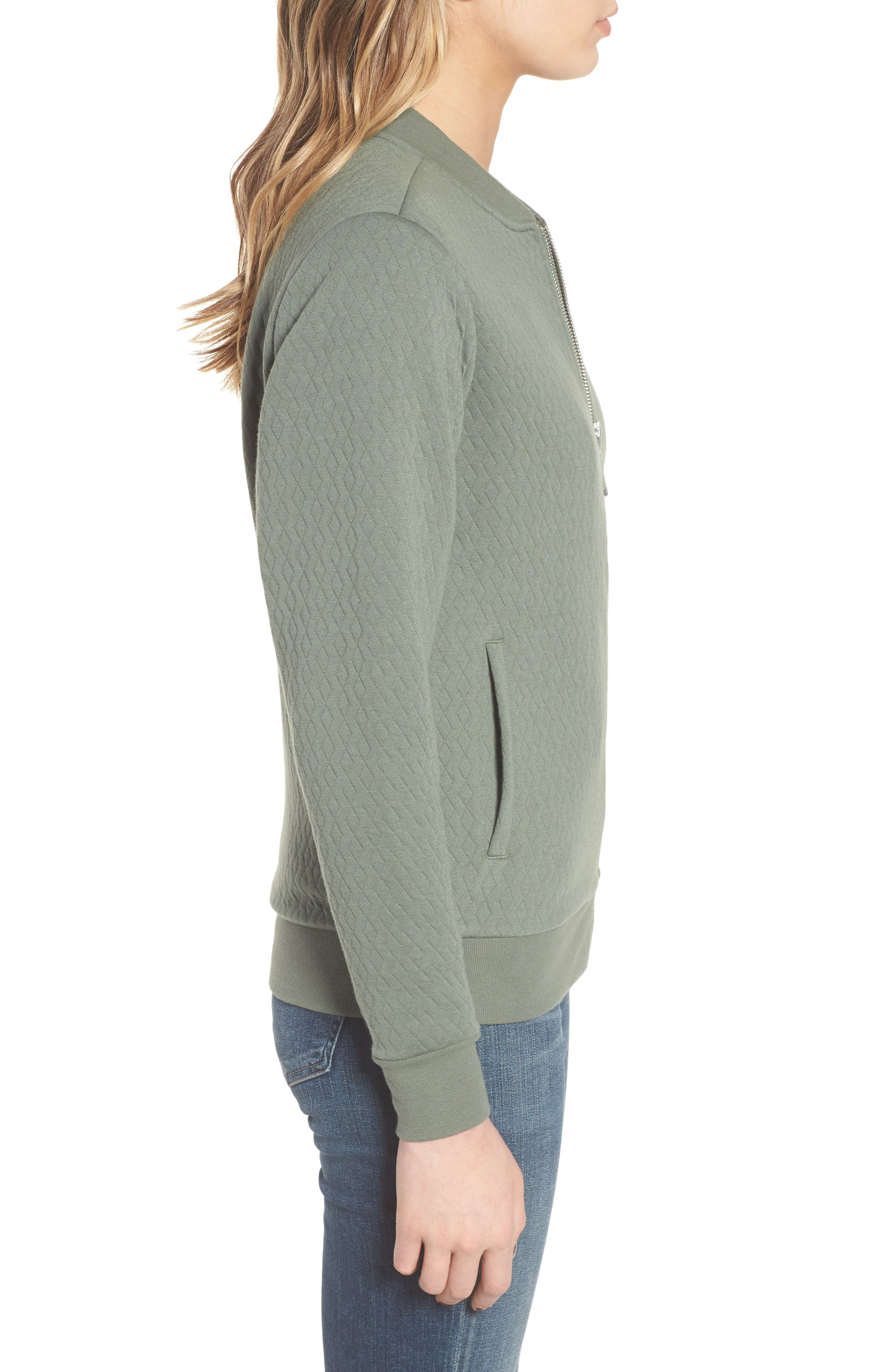 Millie Bomber Sweatshirt Jacket,                             Alternate thumbnail 3, color,                             301