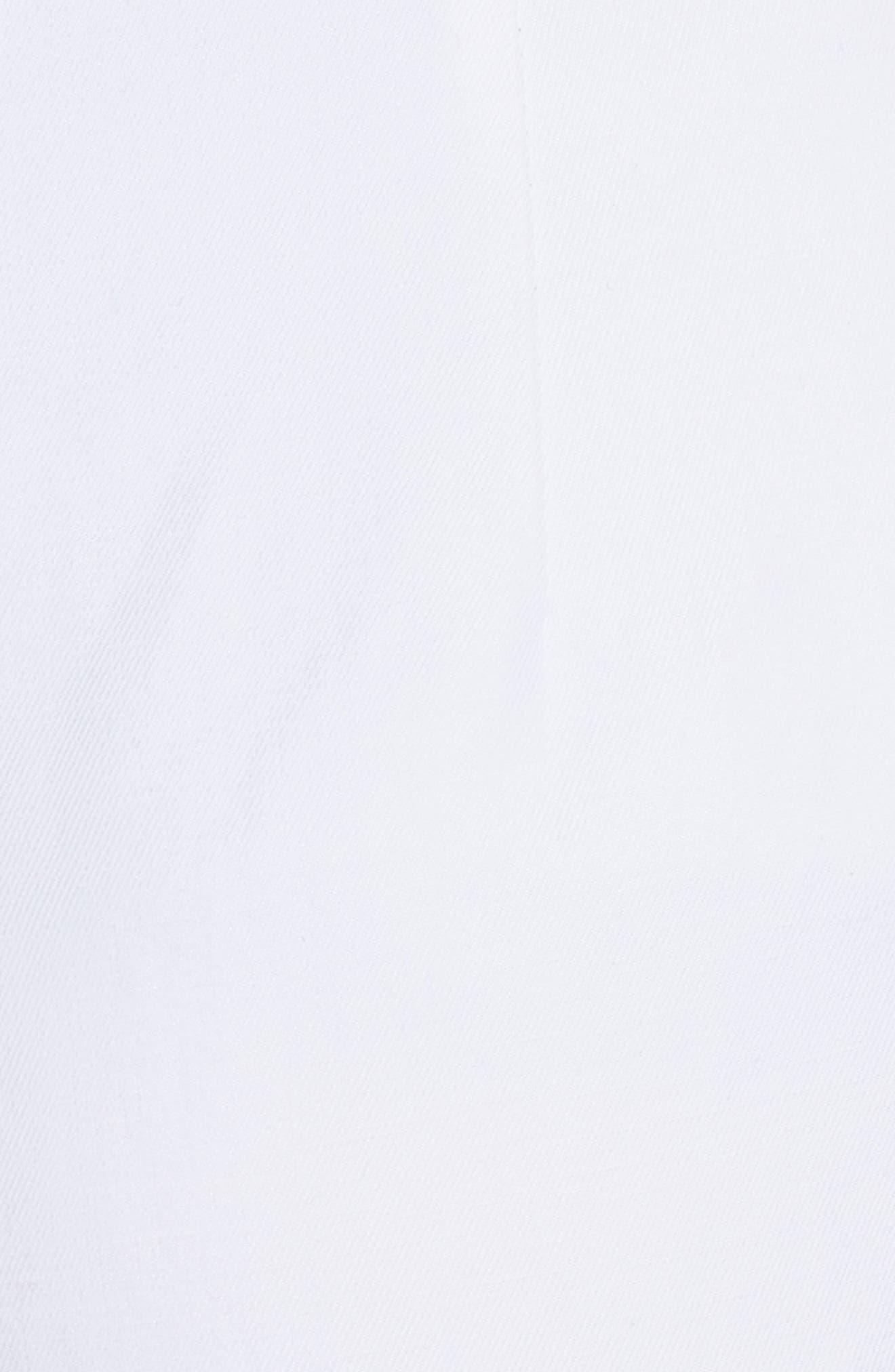 Cotton & Linen Crop Wide Leg Pants,                             Alternate thumbnail 5, color,                             100