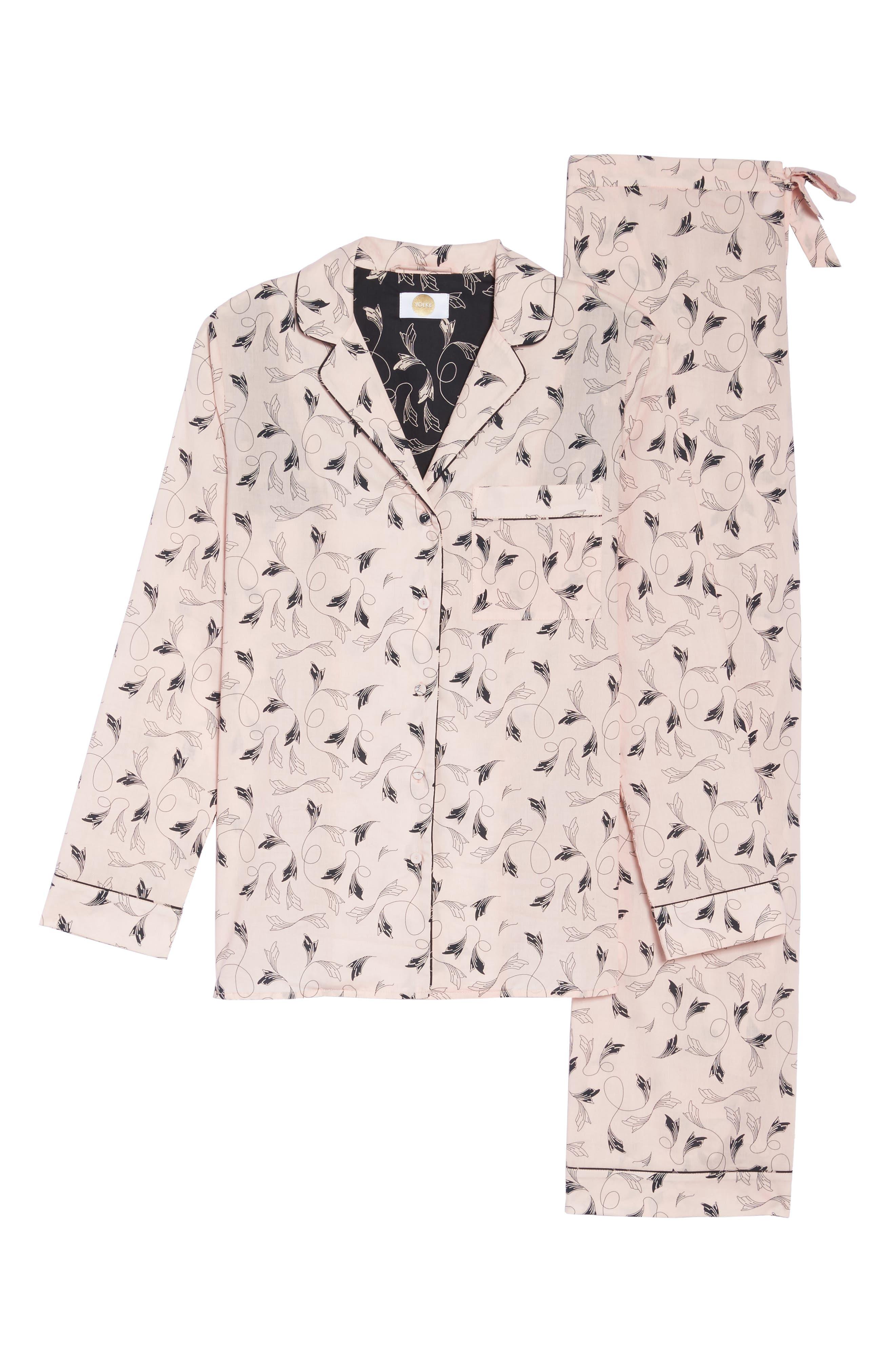 Classic Print Cotton Poplin Pajamas,                             Alternate thumbnail 6, color,