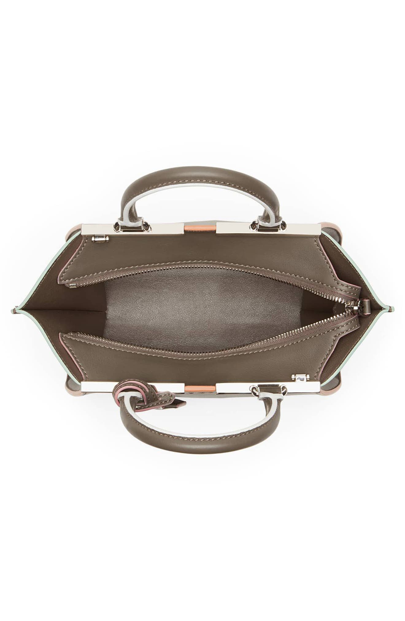 'Mini 3Jours' Calfskin Leather Shopper,                             Alternate thumbnail 4, color,                             077