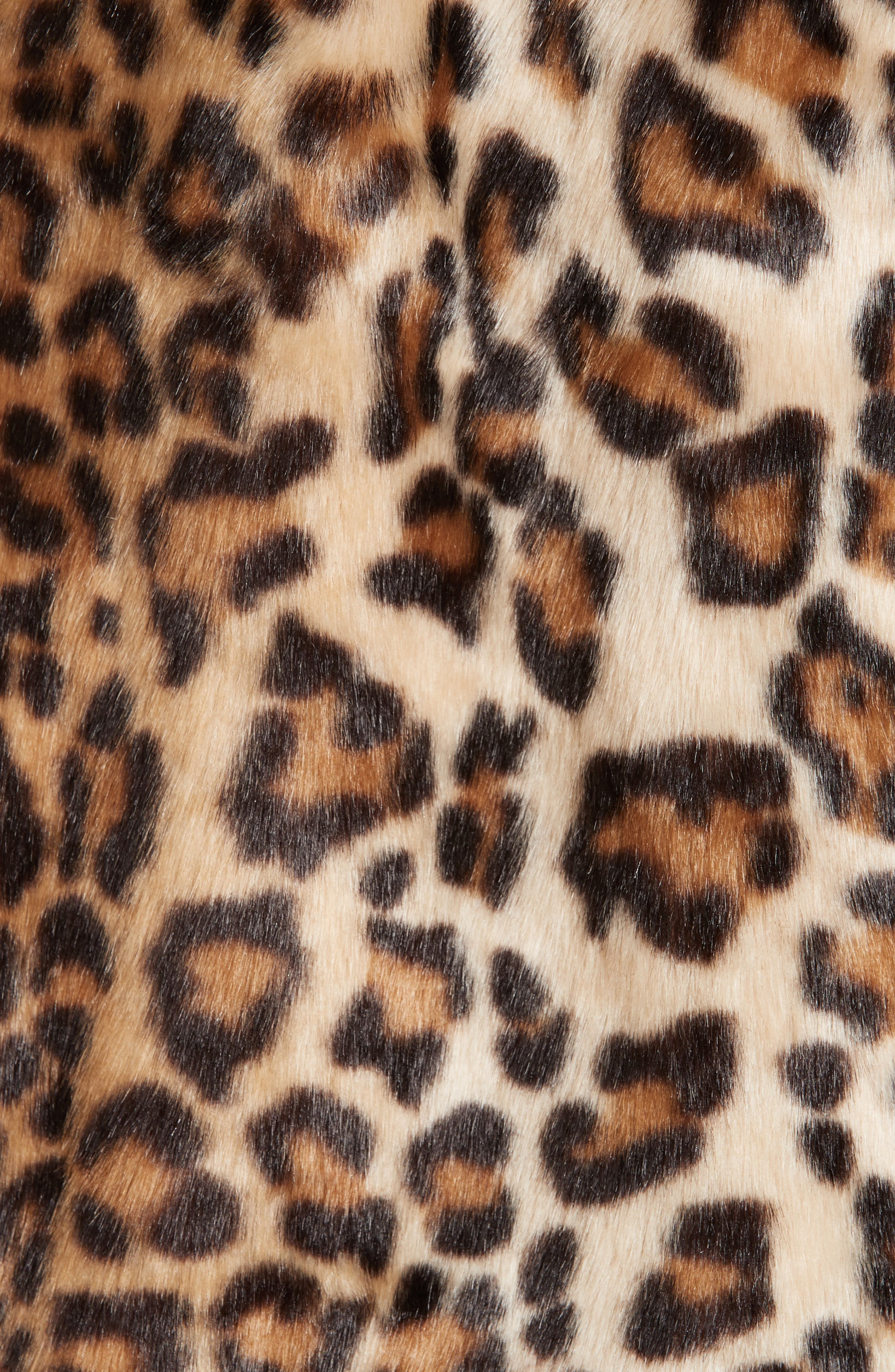 R13,                             Oversize Faux Leopard Hunting Coat,                             Alternate thumbnail 6, color,                             242
