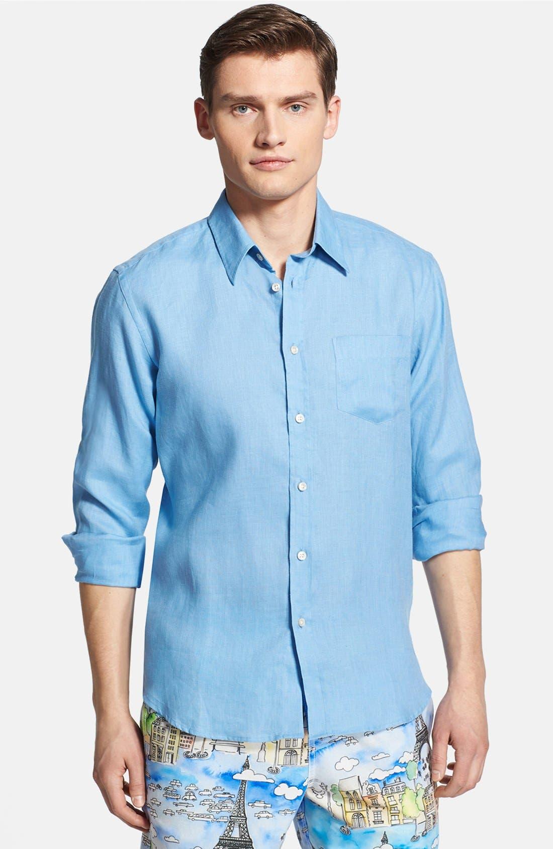 'Caroubier' Linen Shirt,                             Main thumbnail 11, color,
