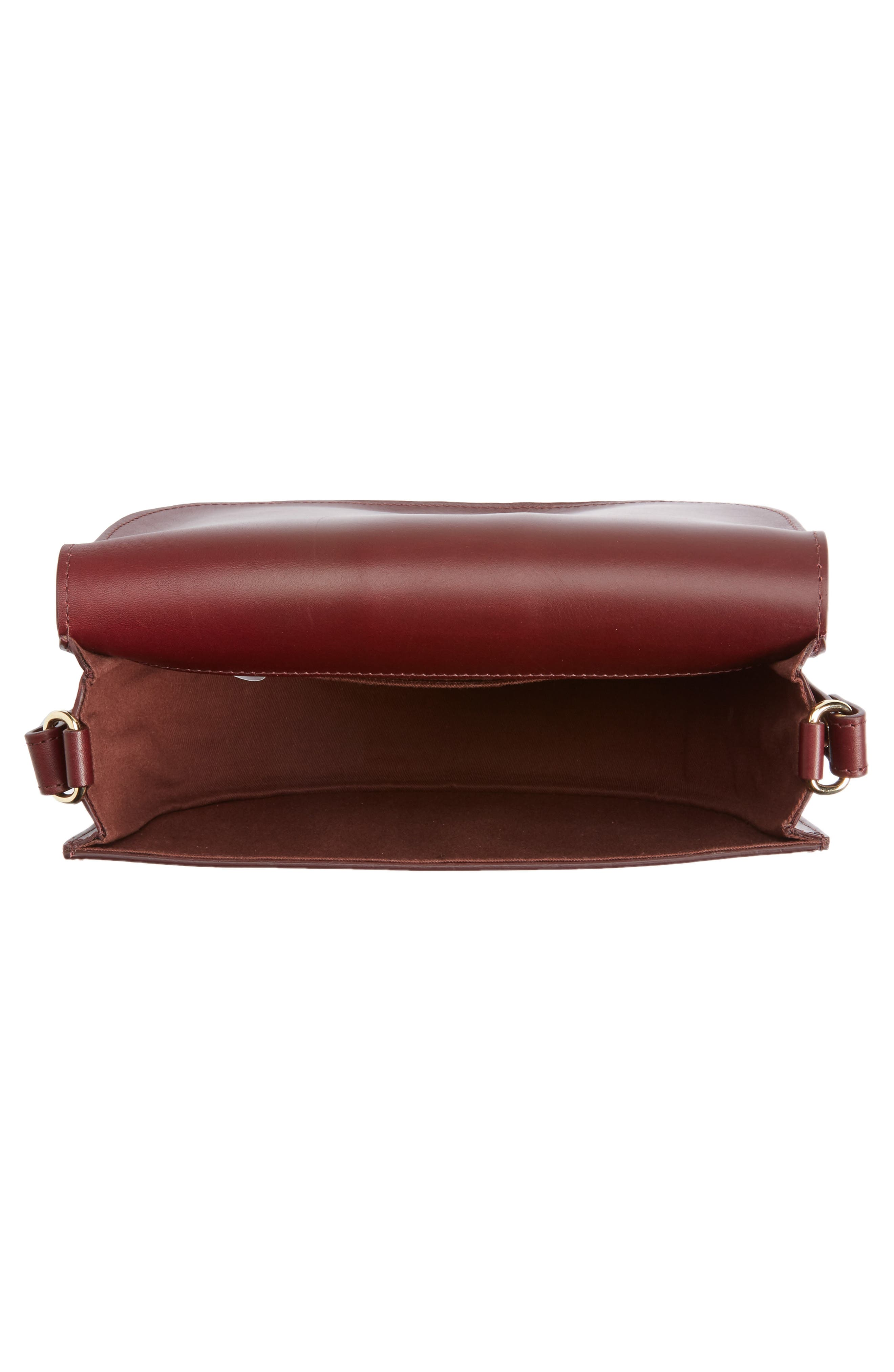 Soho Calfskin Leather Saddle Bag,                             Alternate thumbnail 4, color,                             600