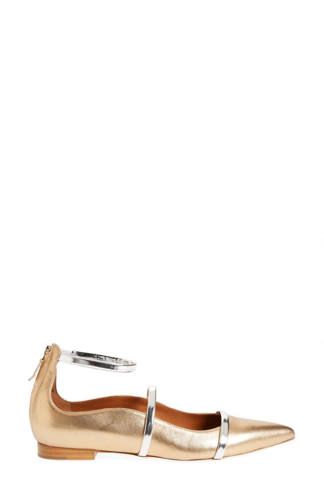 'Robyn' Ankle Strap Flat,                             Alternate thumbnail 4, color,                             710