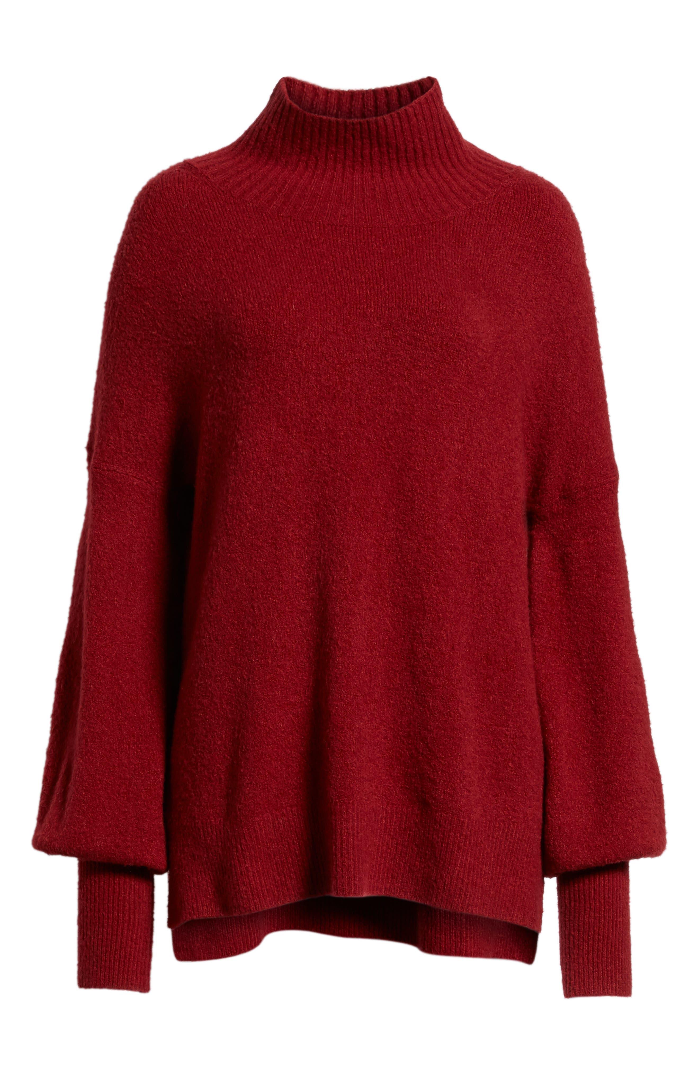Orla Sweater,                             Alternate thumbnail 6, color,                             DEEP FRAMBOISE