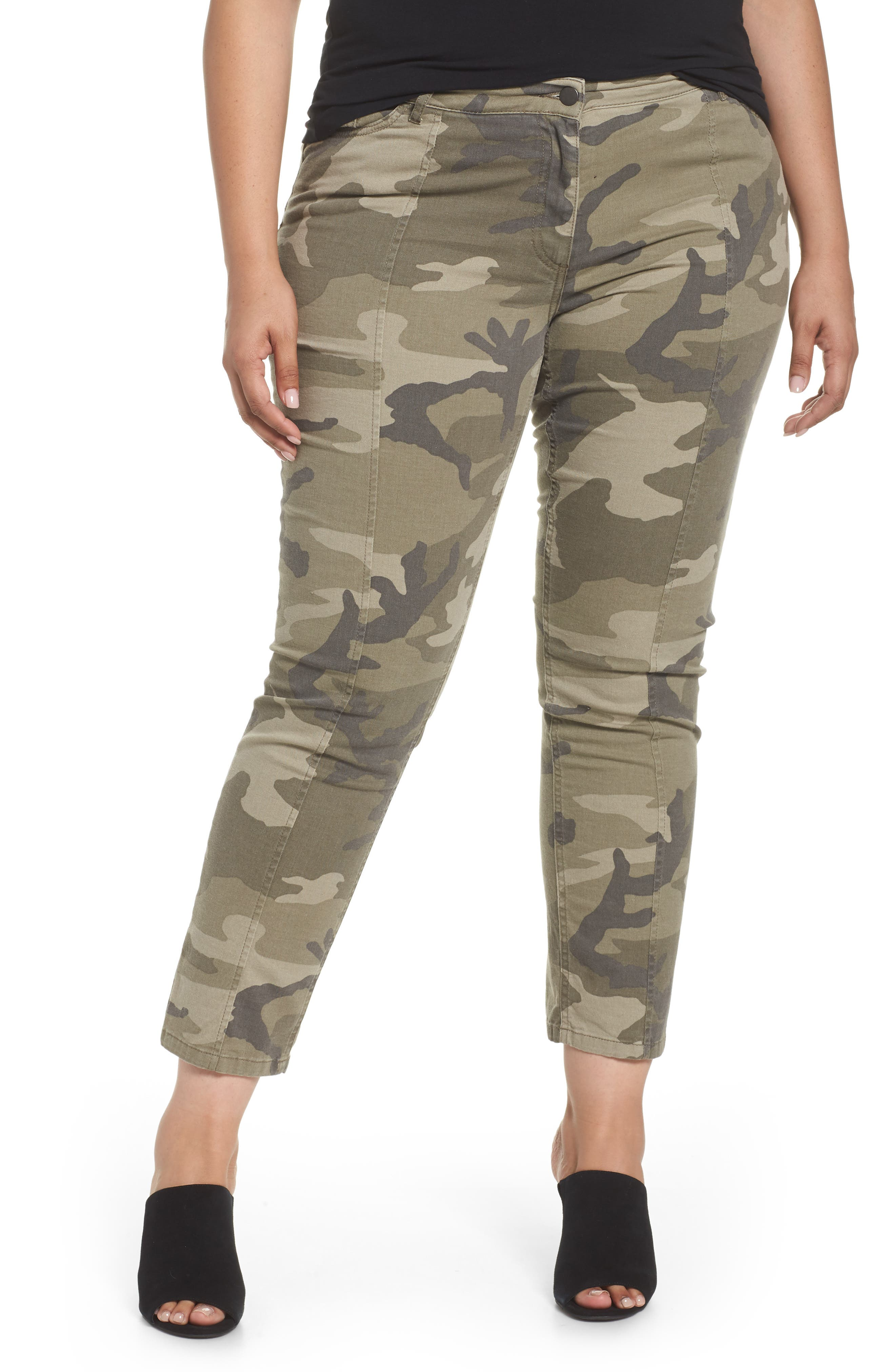 Camo Denim Pants,                             Main thumbnail 1, color,                             218