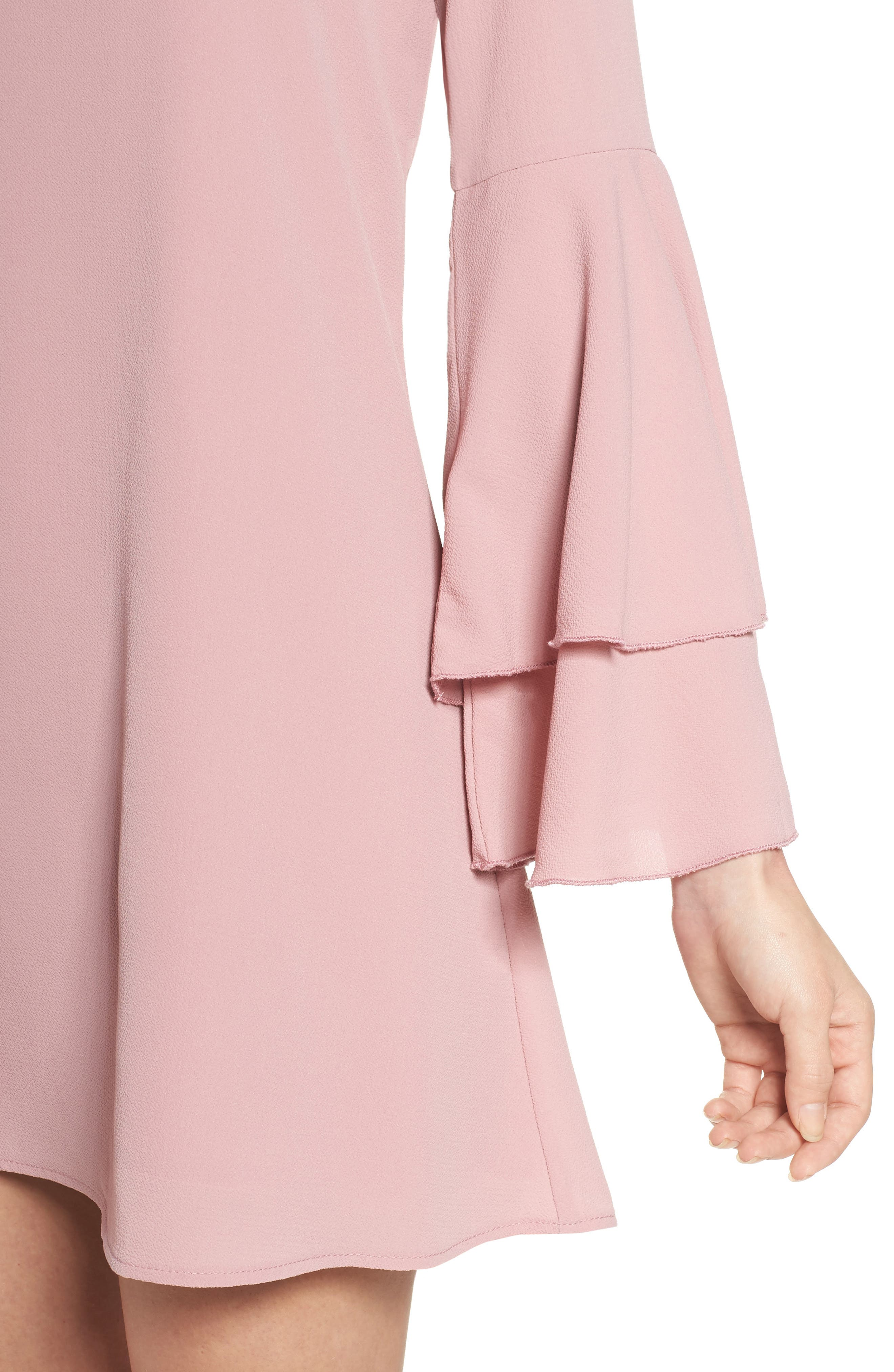 Bell Sleeve Dress,                             Alternate thumbnail 4, color,                             681