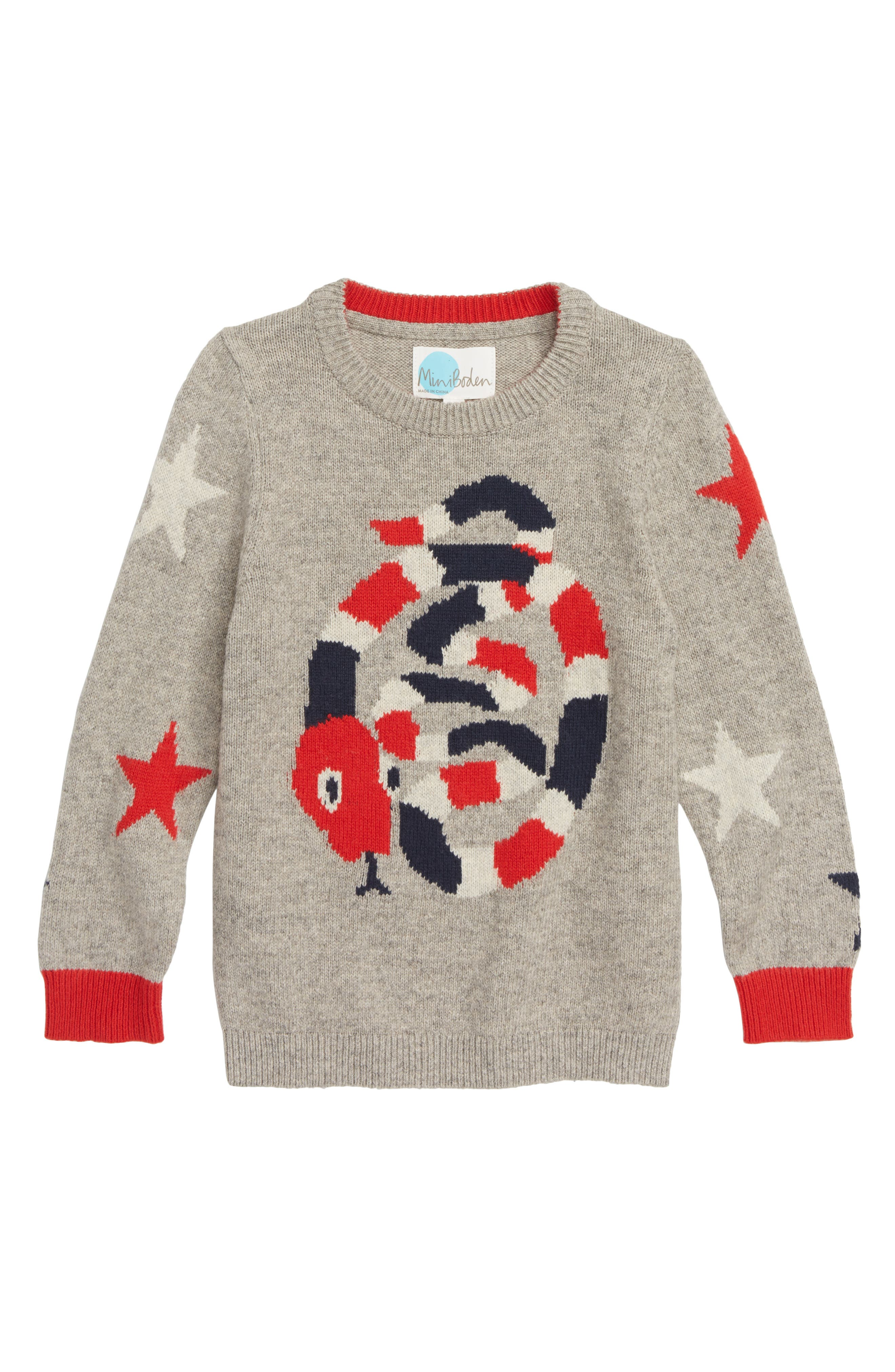 Intarsia Snake Sweater,                         Main,                         color, GREY MARL