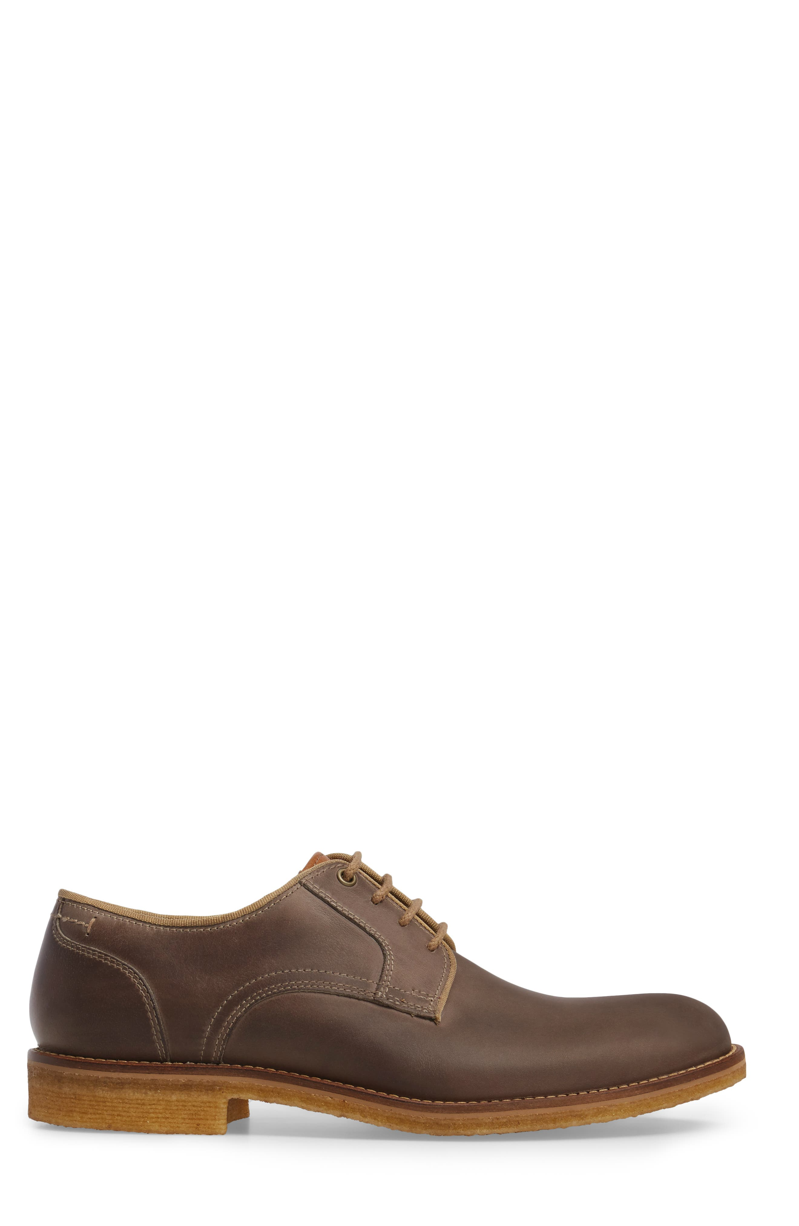 Howell Plain Toe Derby,                             Alternate thumbnail 3, color,                             GREY SUEDE