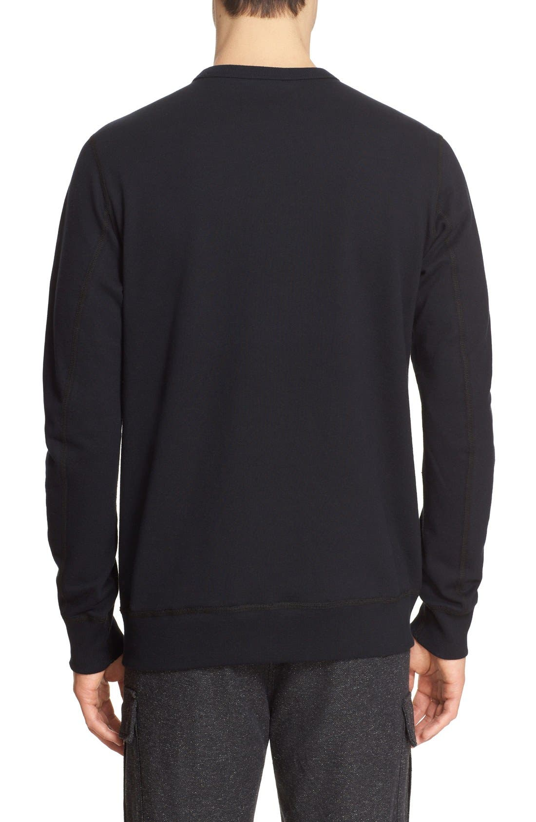 French Terry Sweatshirt,                             Alternate thumbnail 2, color,                             001