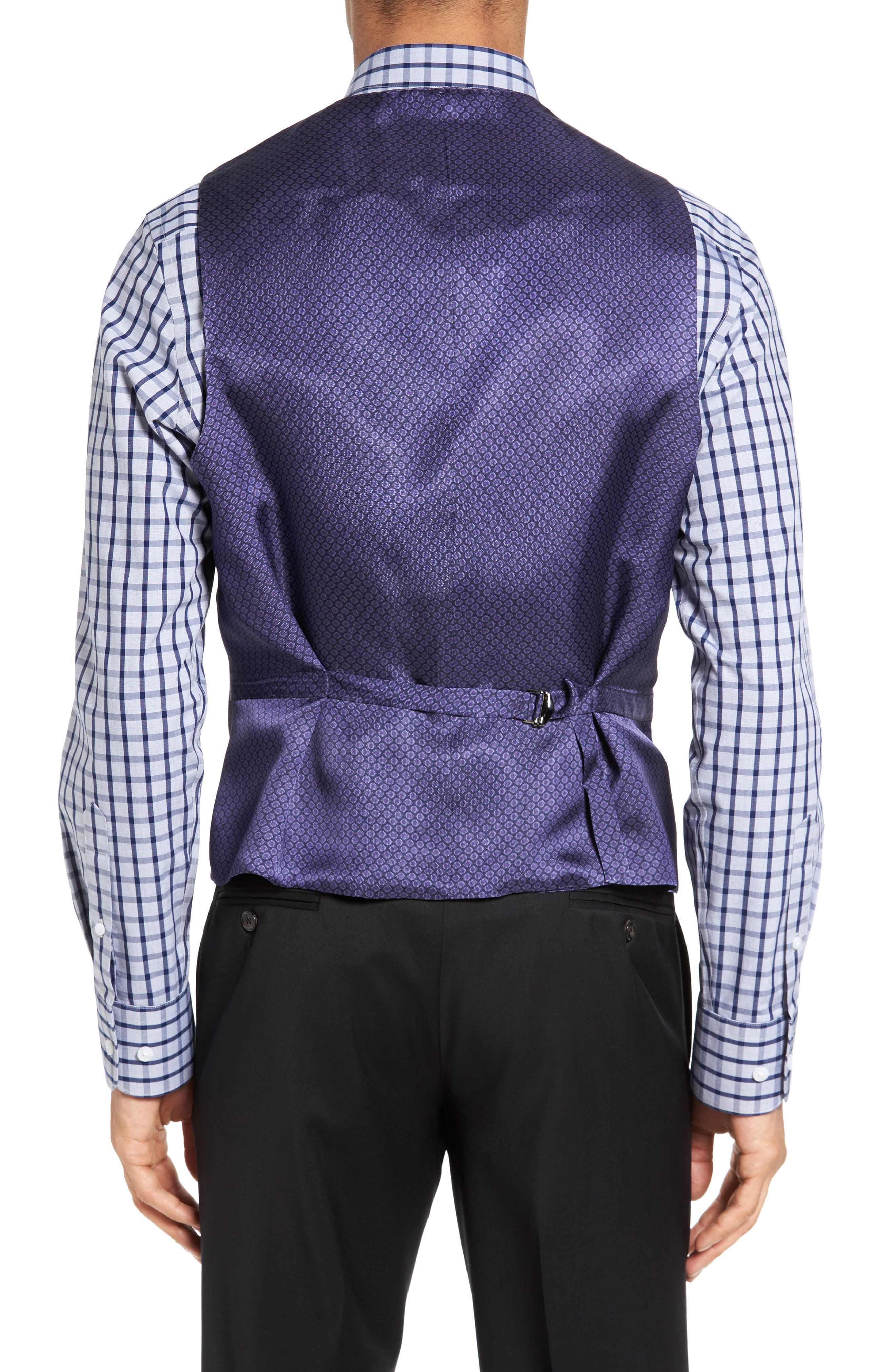 Jones Trim Fit Wool Vest,                             Alternate thumbnail 2, color,                             001