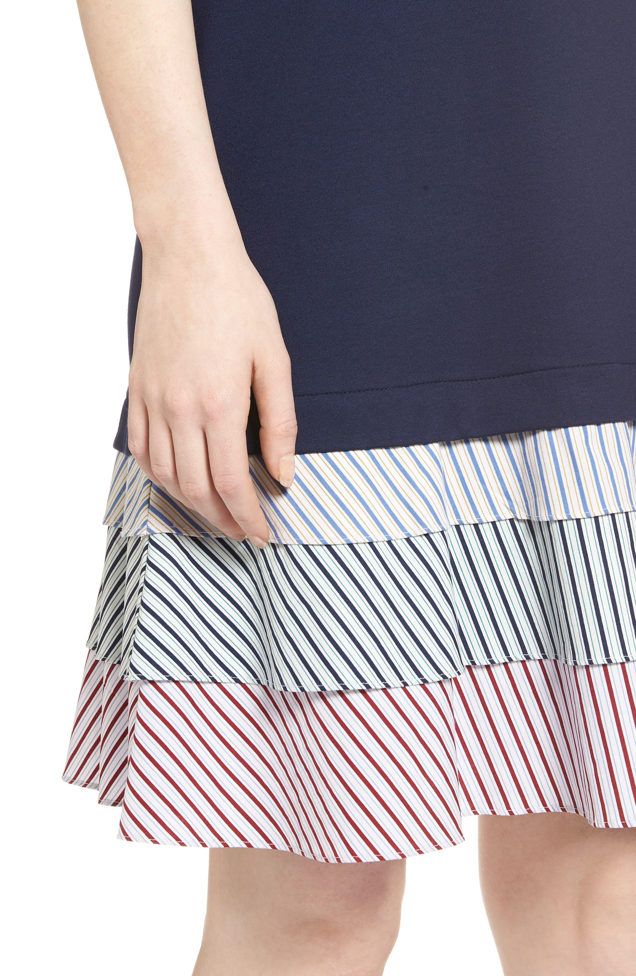 Ruffle Hem Knit Dress,                             Alternate thumbnail 4, color,