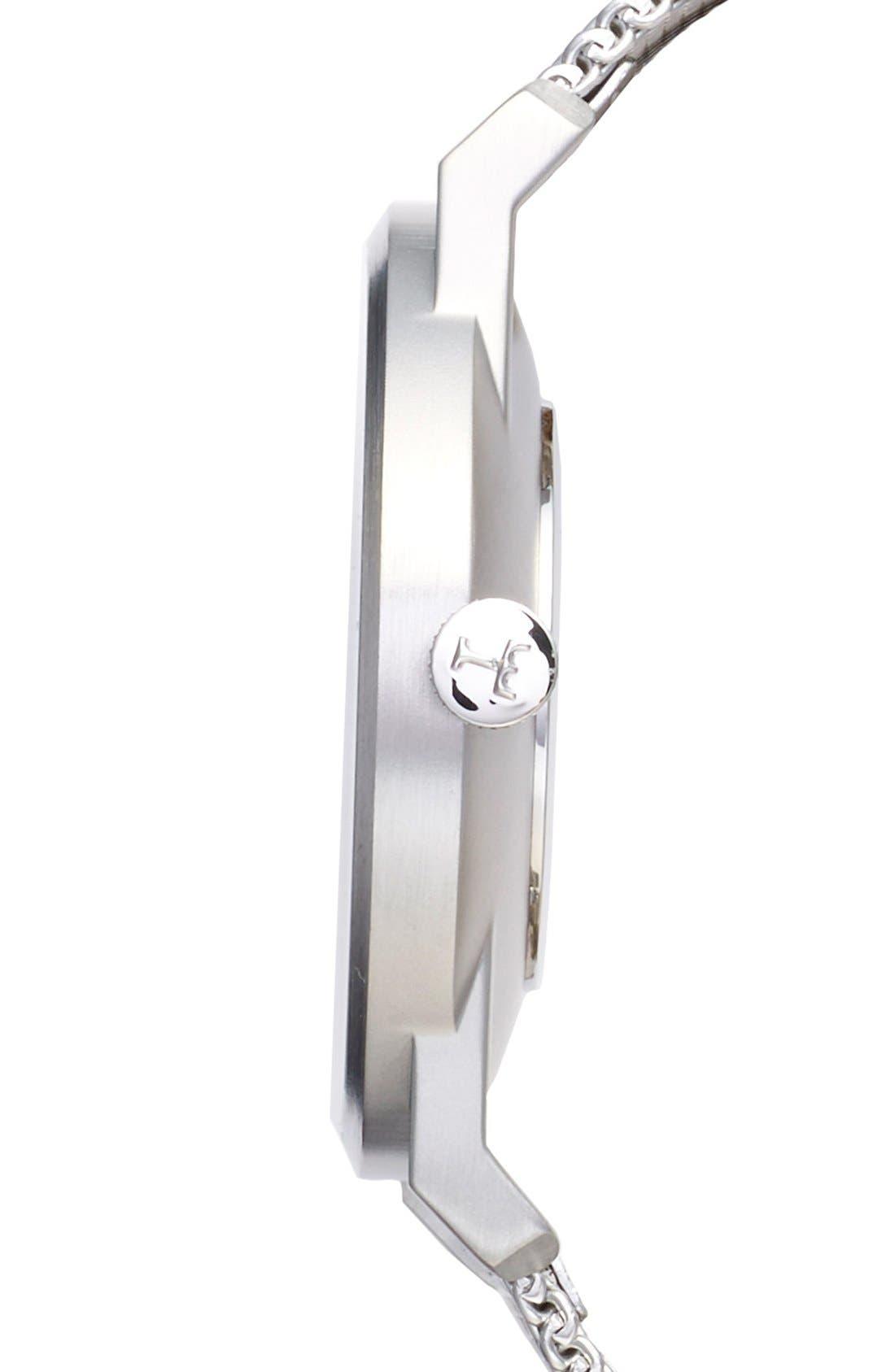 Dusk Klinga Mesh Strap Watch, 38mm,                             Alternate thumbnail 3, color,                             SILVER/ SILVER