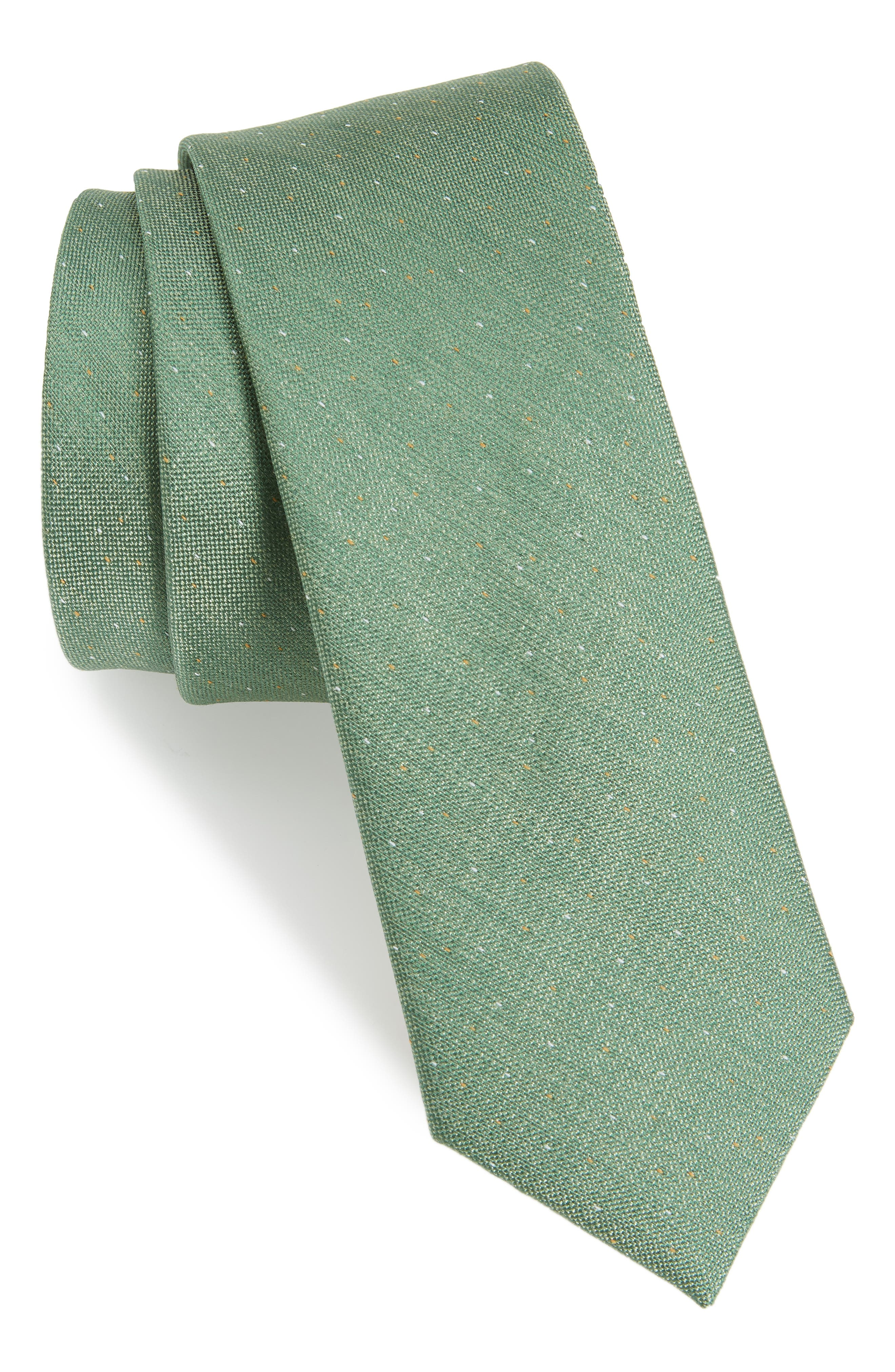Flecked Solid Silk Tie,                             Main thumbnail 1, color,                             300
