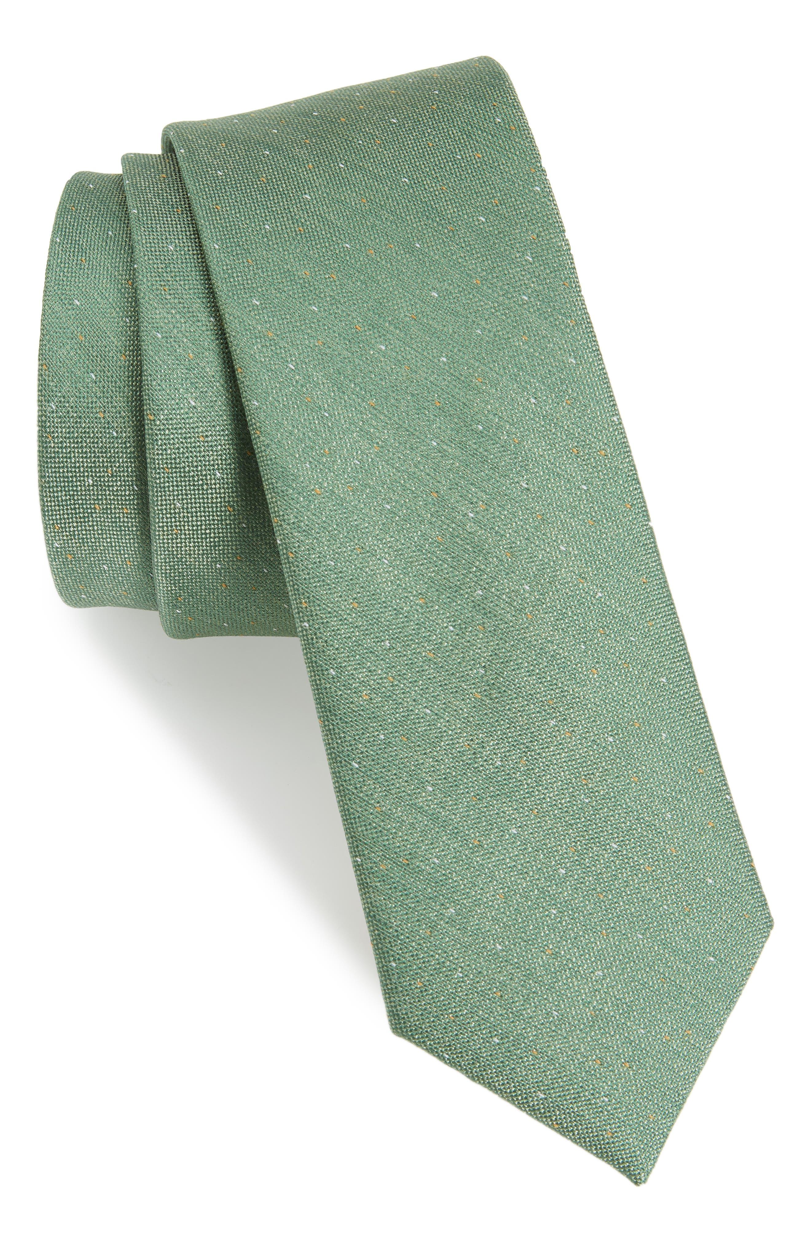 Flecked Solid Silk Tie,                         Main,                         color, 300