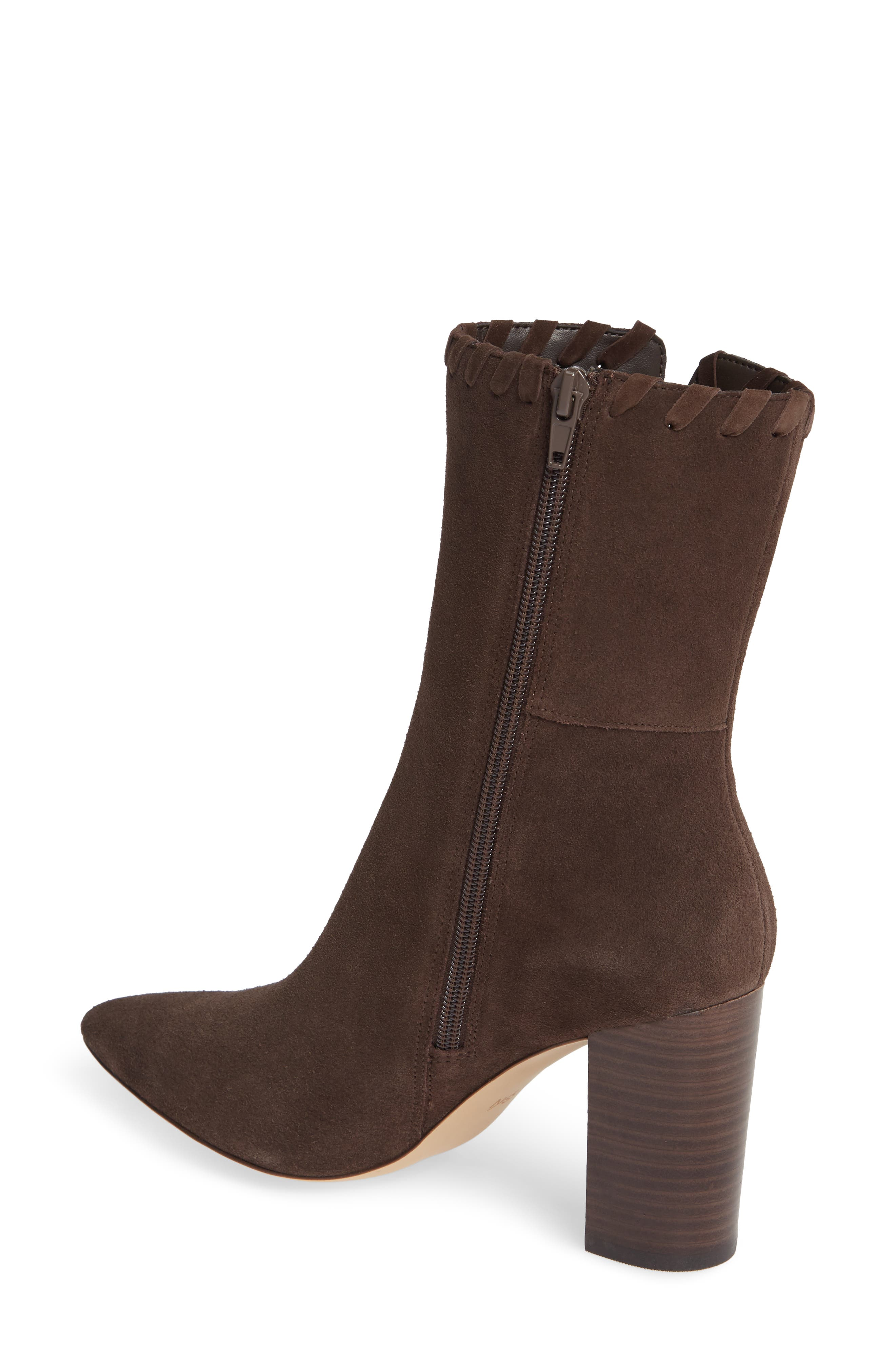 Camilla Bootie,                             Alternate thumbnail 2, color,                             CHOCOLATE SUEDE