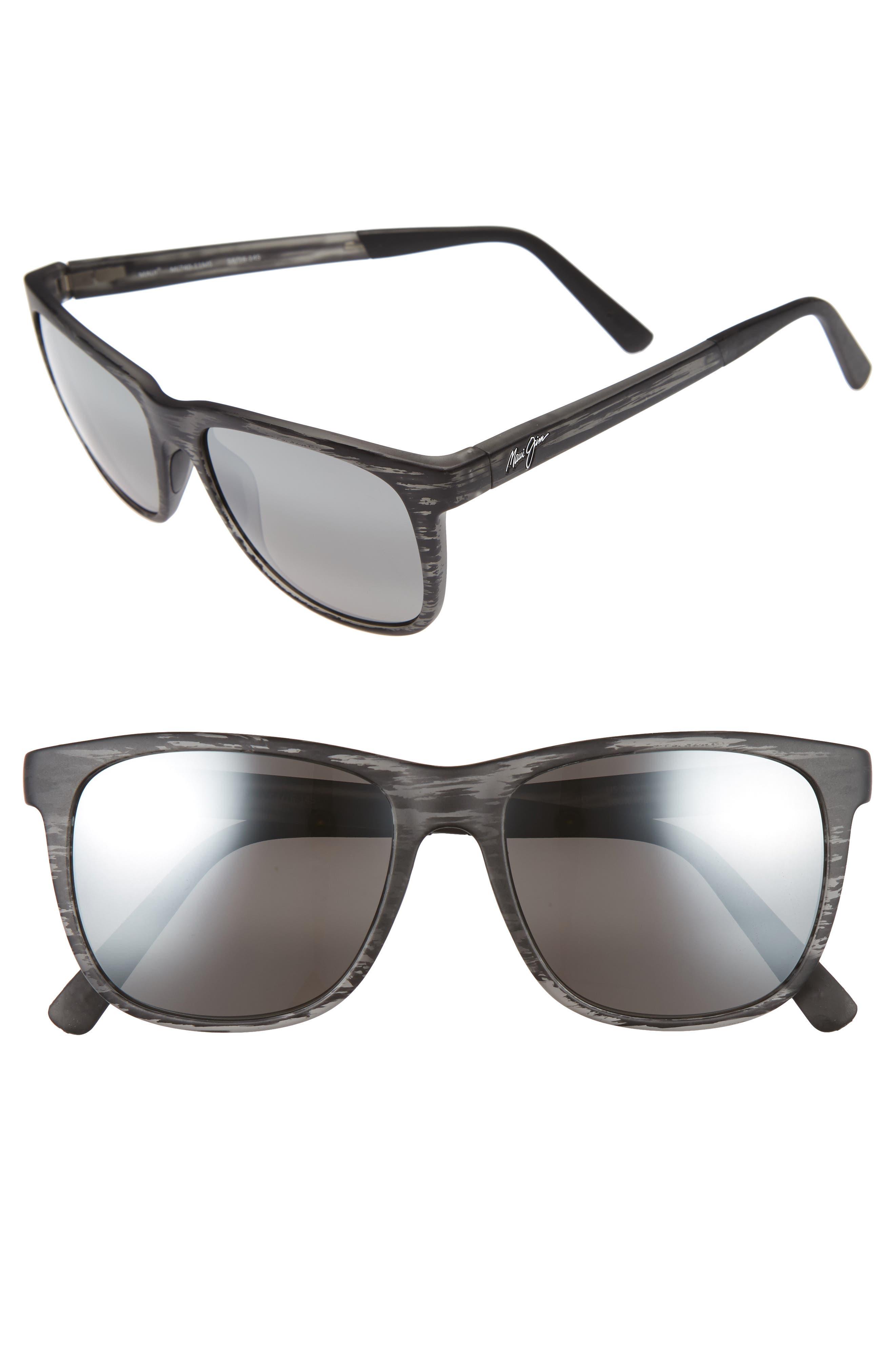 Tail Slide 53mm Polarized Sunglasses,                             Main thumbnail 1, color,                             MATTE GREY STRIPE