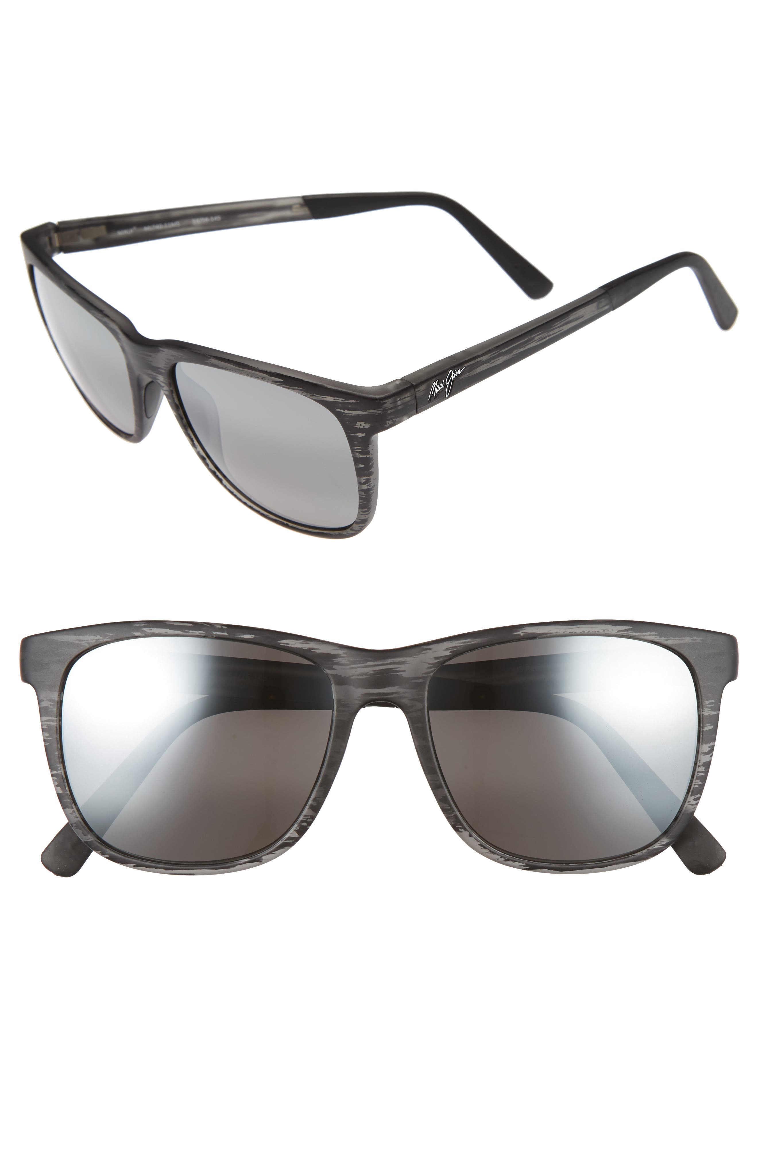 Tail Slide 53mm Polarized Sunglasses,                         Main,                         color, MATTE GREY STRIPE