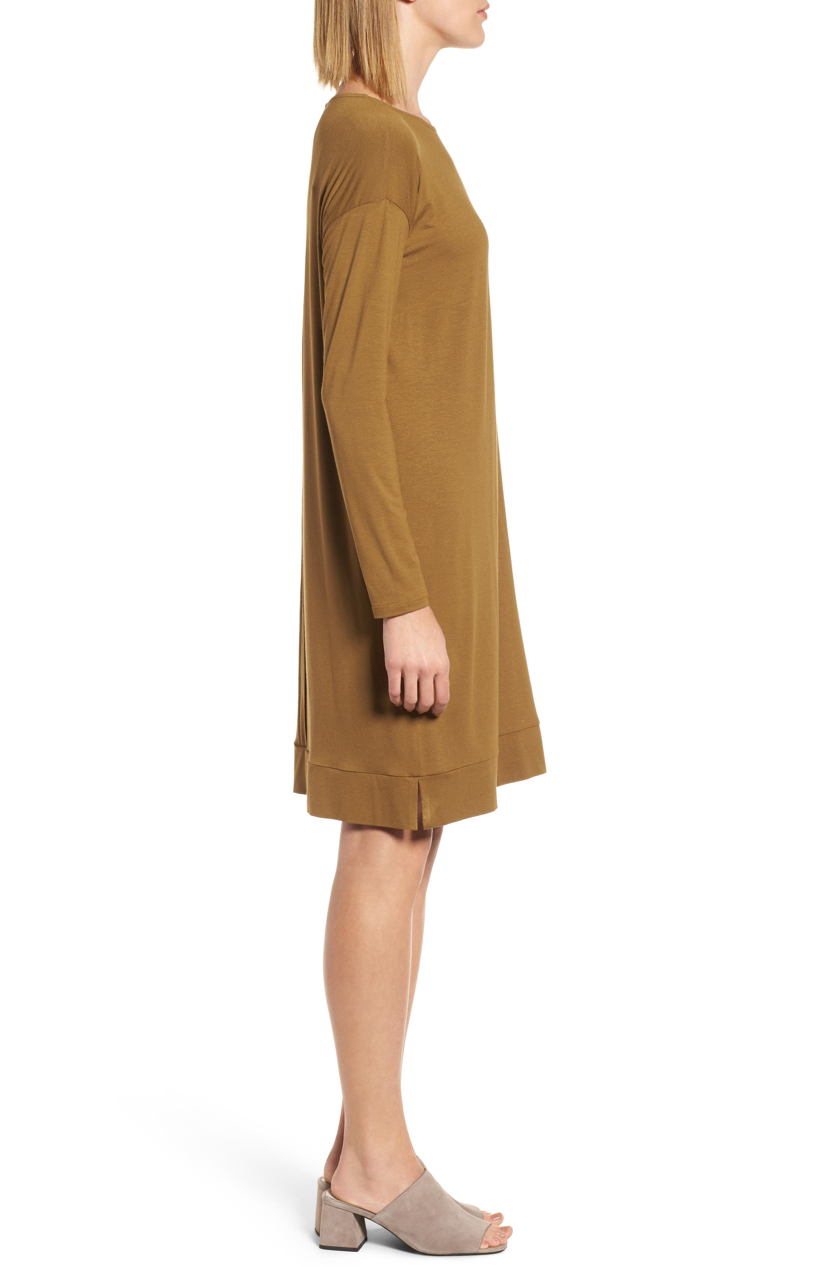 Long Sleeve Jersey Shift Dress,                             Alternate thumbnail 6, color,