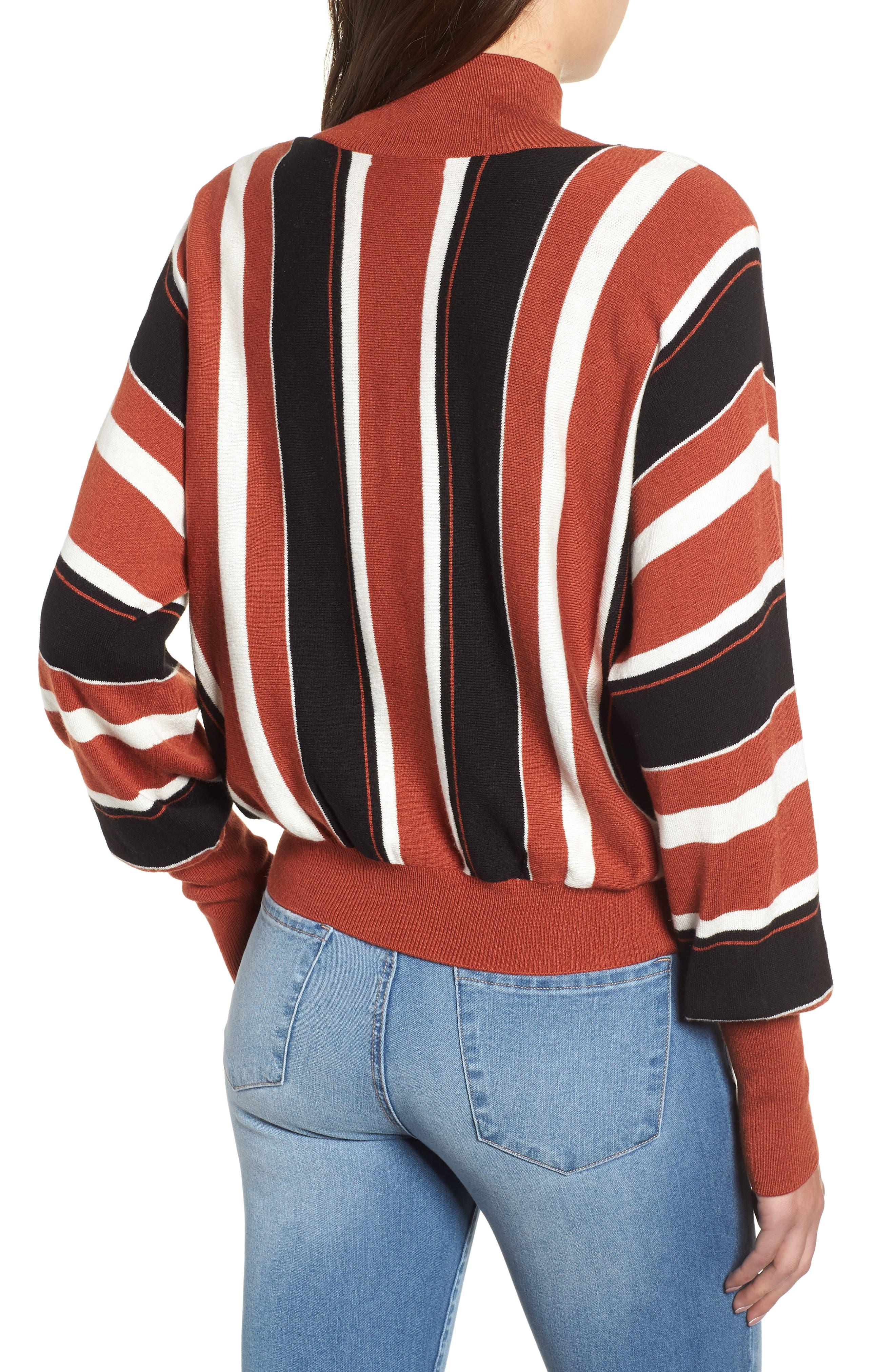 Stripe Dolman Sleeve Sweater,                             Alternate thumbnail 3, color,                             210
