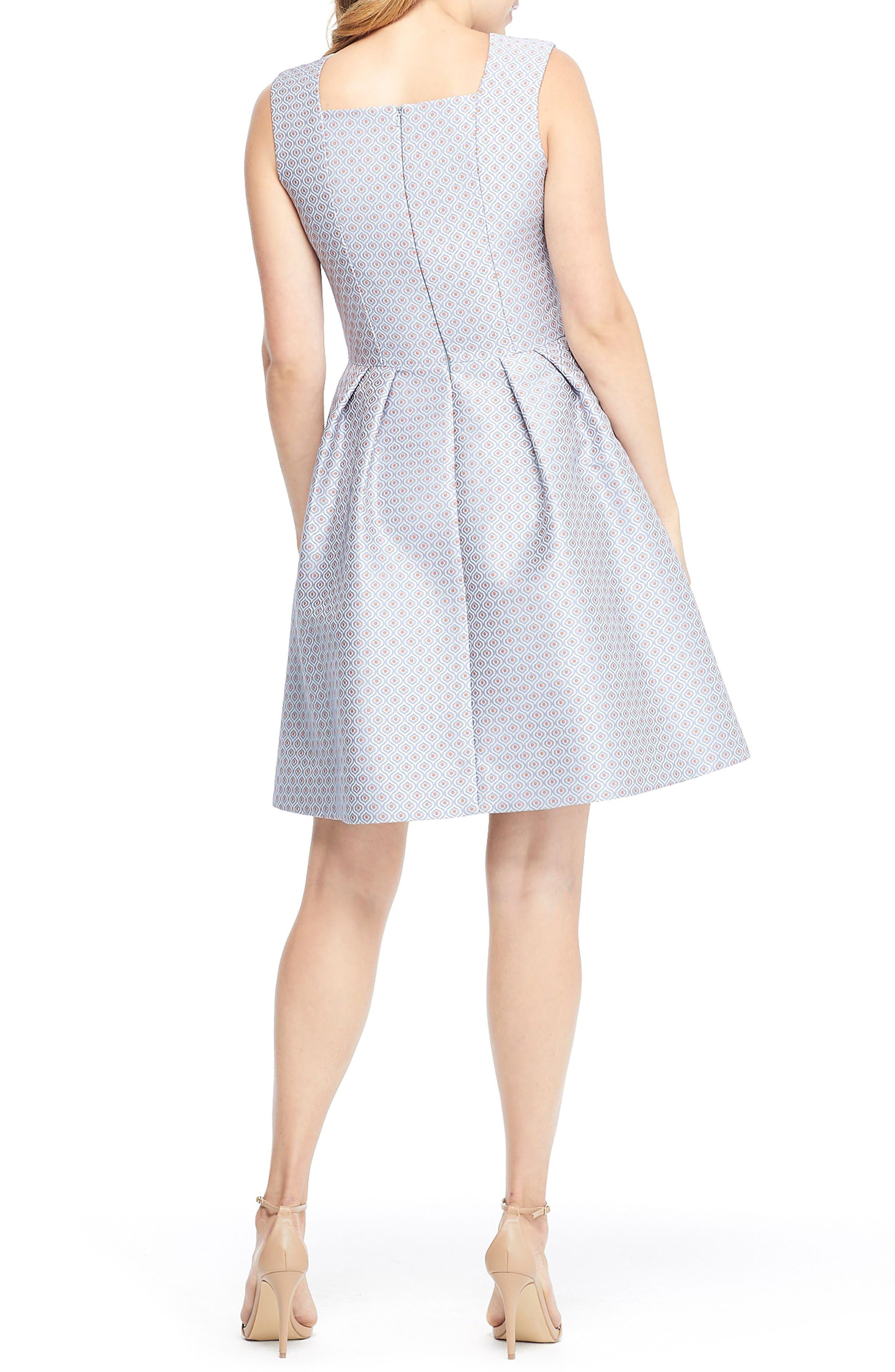 Cosette Jacquard Fit & Flare Dress,                             Alternate thumbnail 2, color,                             BLUE MULTI