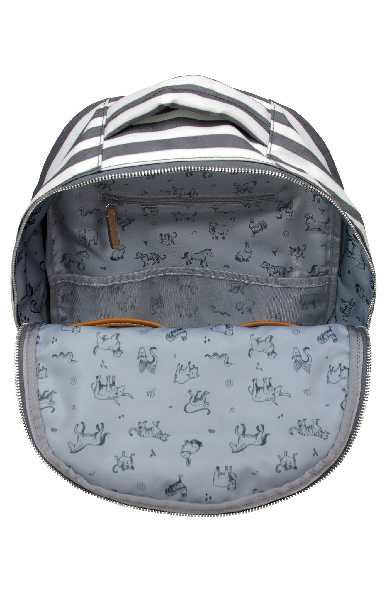 Mini-Go Water Resistant Diaper Backpack,                             Alternate thumbnail 3, color,                             STRIPE