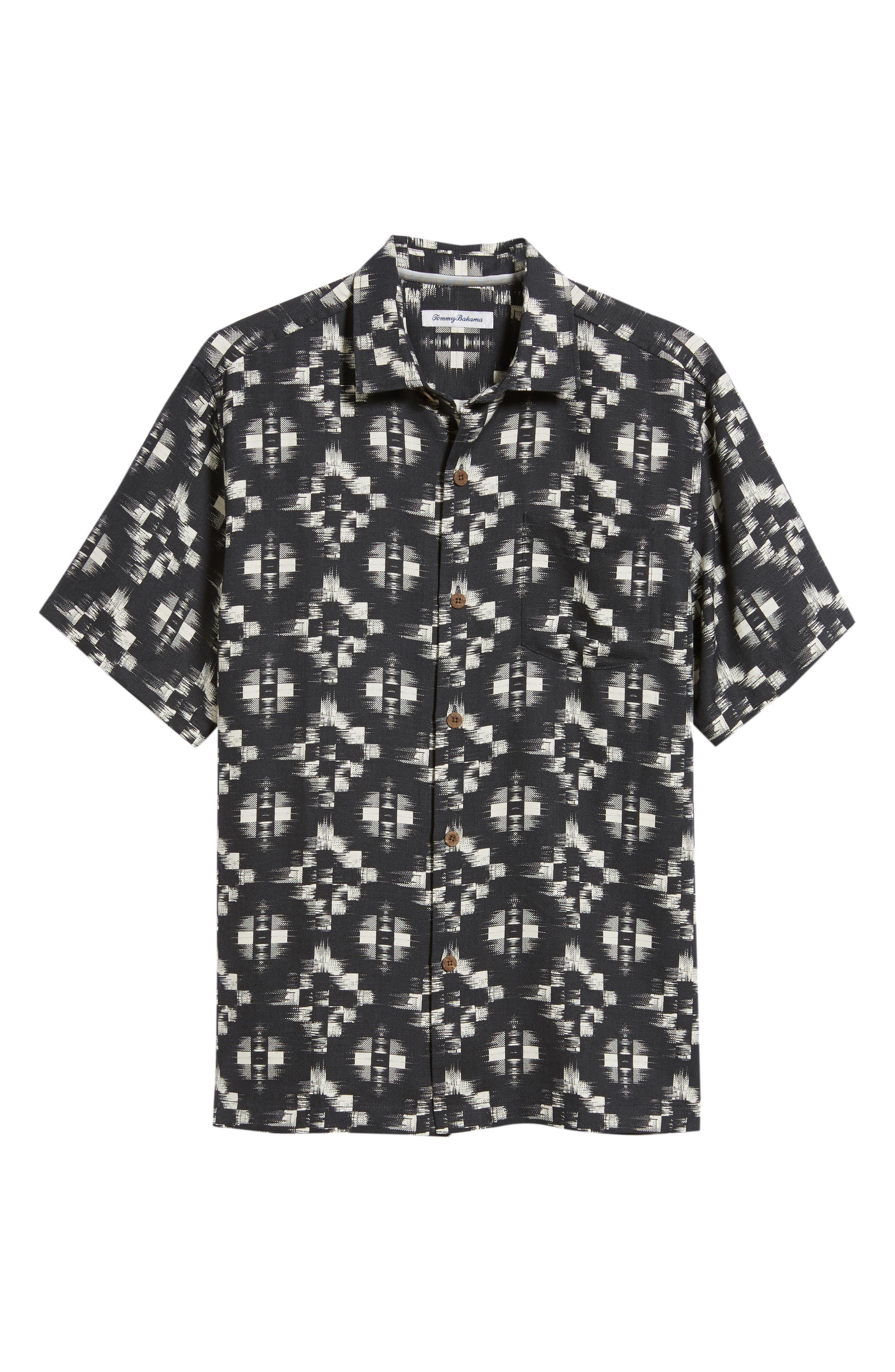 Mazatlan Geo Print Sport Shirt,                             Alternate thumbnail 5, color,                             001