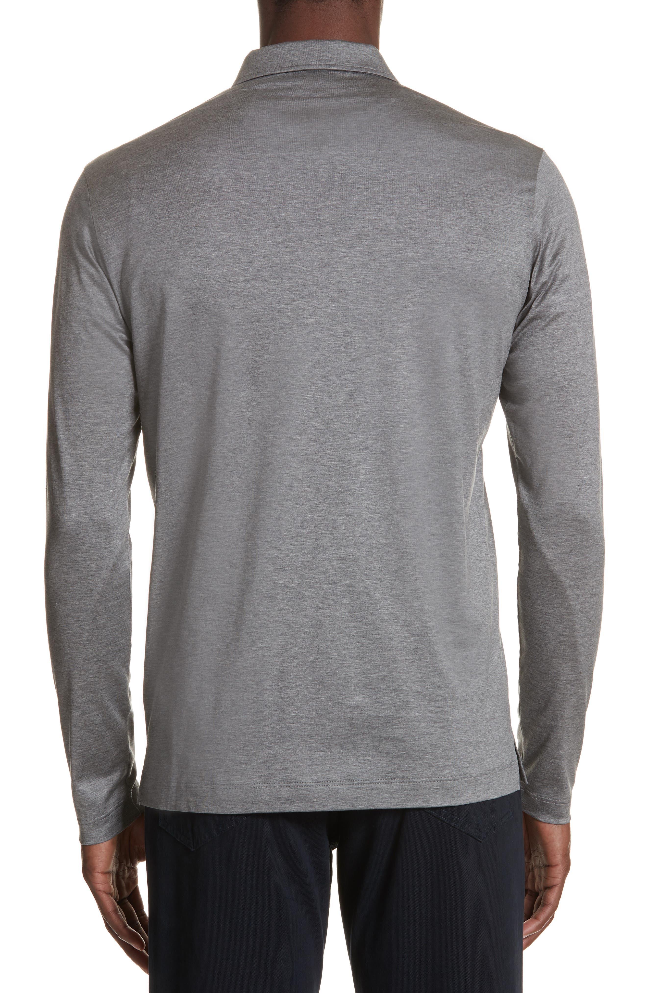 Cotton Quarter Zip Polo Shirt,                             Alternate thumbnail 2, color,                             020