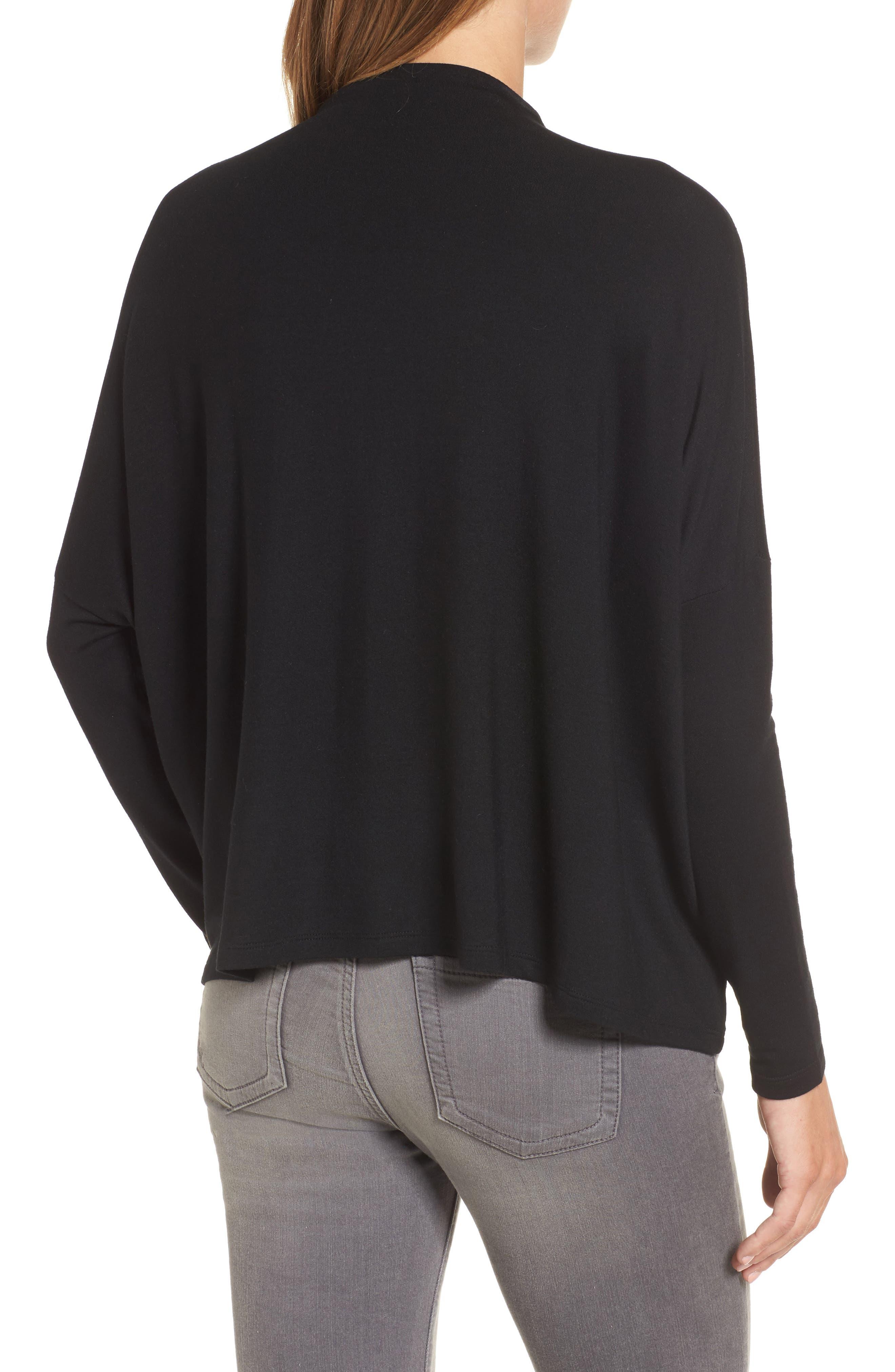 High Neck Sweatshirt,                             Alternate thumbnail 2, color,                             001