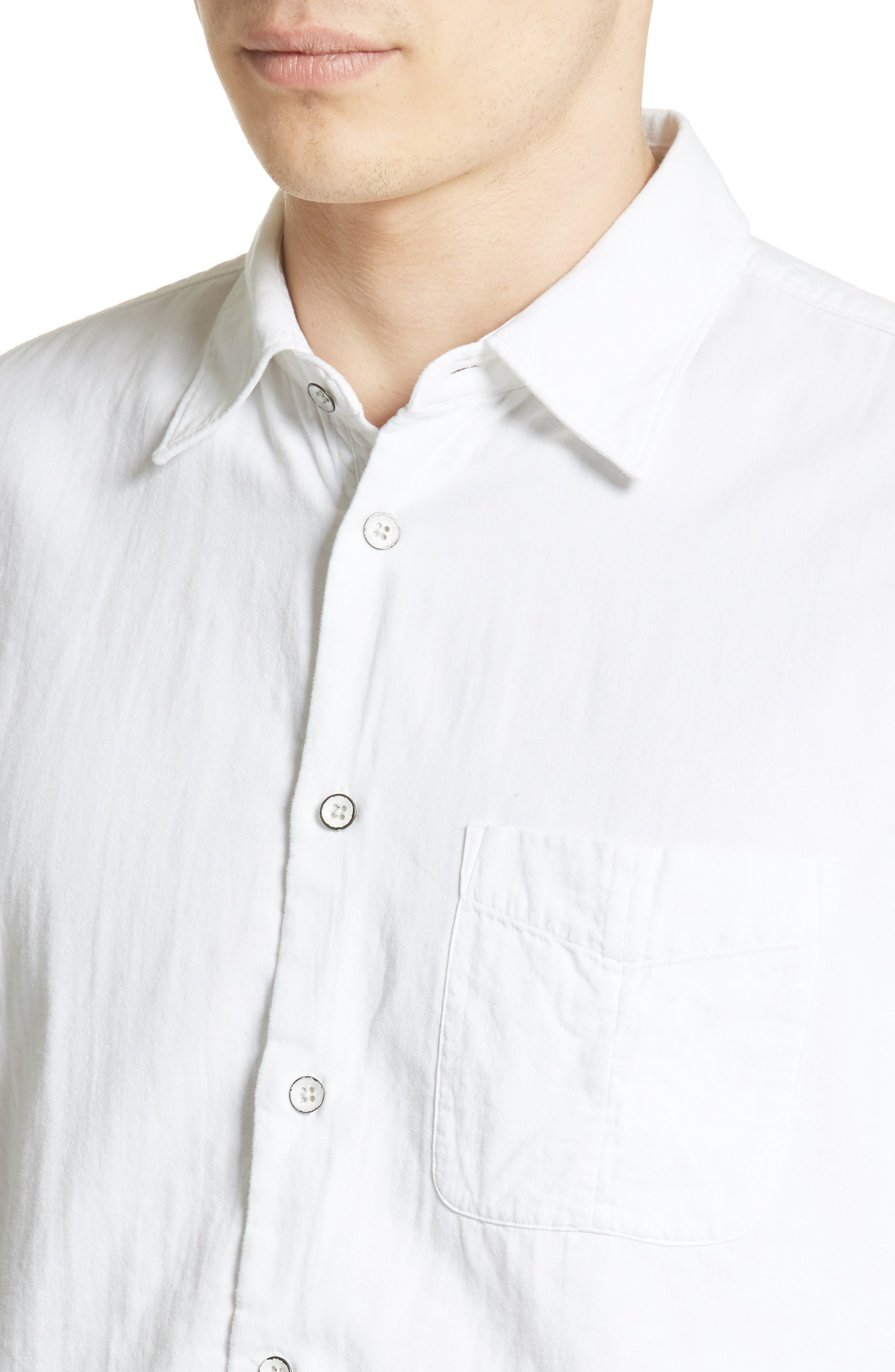 Standard Issue Solid Sport Shirt,                             Alternate thumbnail 5, color,                             WHITE