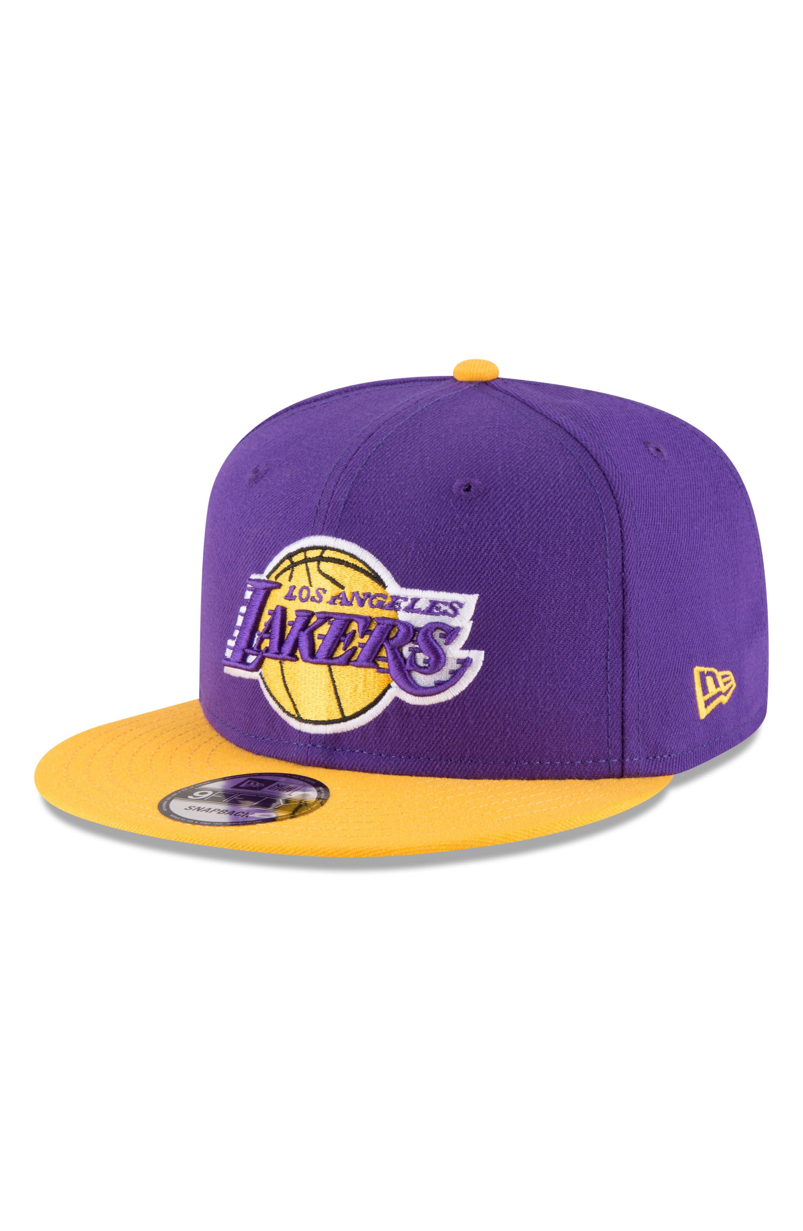 9FIFTY LA Lakers Two-Tone Cap,                         Main,                         color, PURPLE