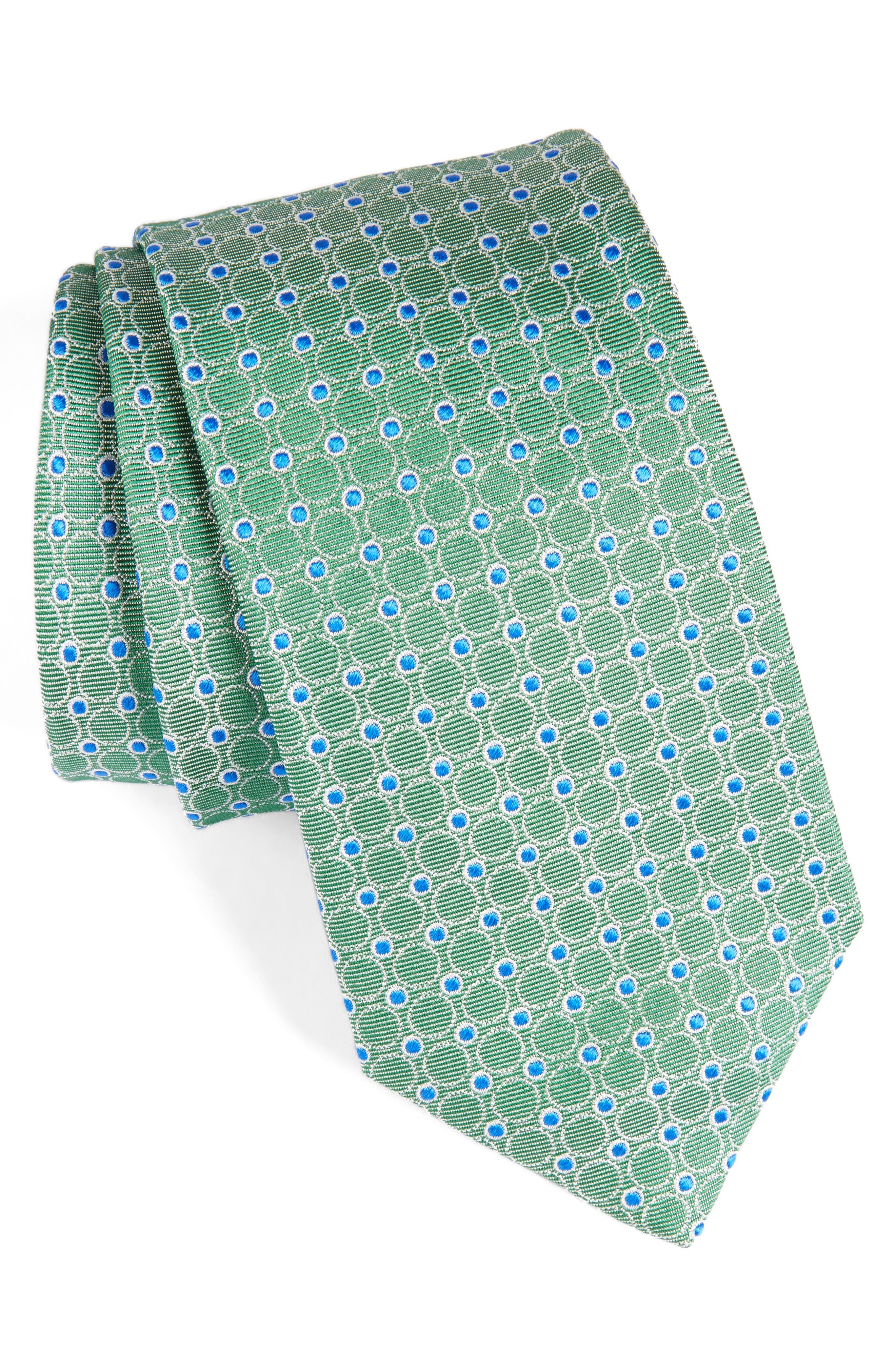 Geometric Silk Tie,                         Main,                         color, 320