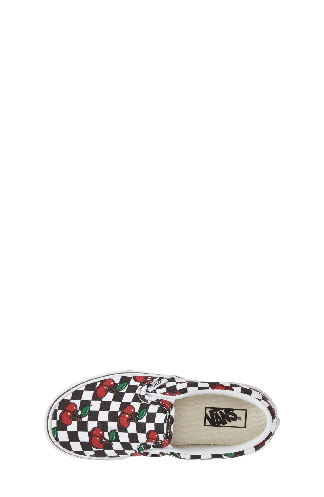 'Classic - Cherry Checkerboard' Slip-On,                             Alternate thumbnail 3, color,                             001