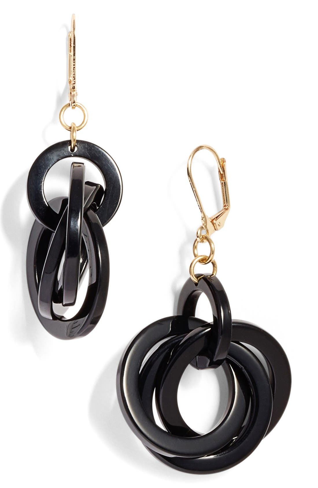 'Twisted Loops' Drop Earrings,                         Main,                         color, 001