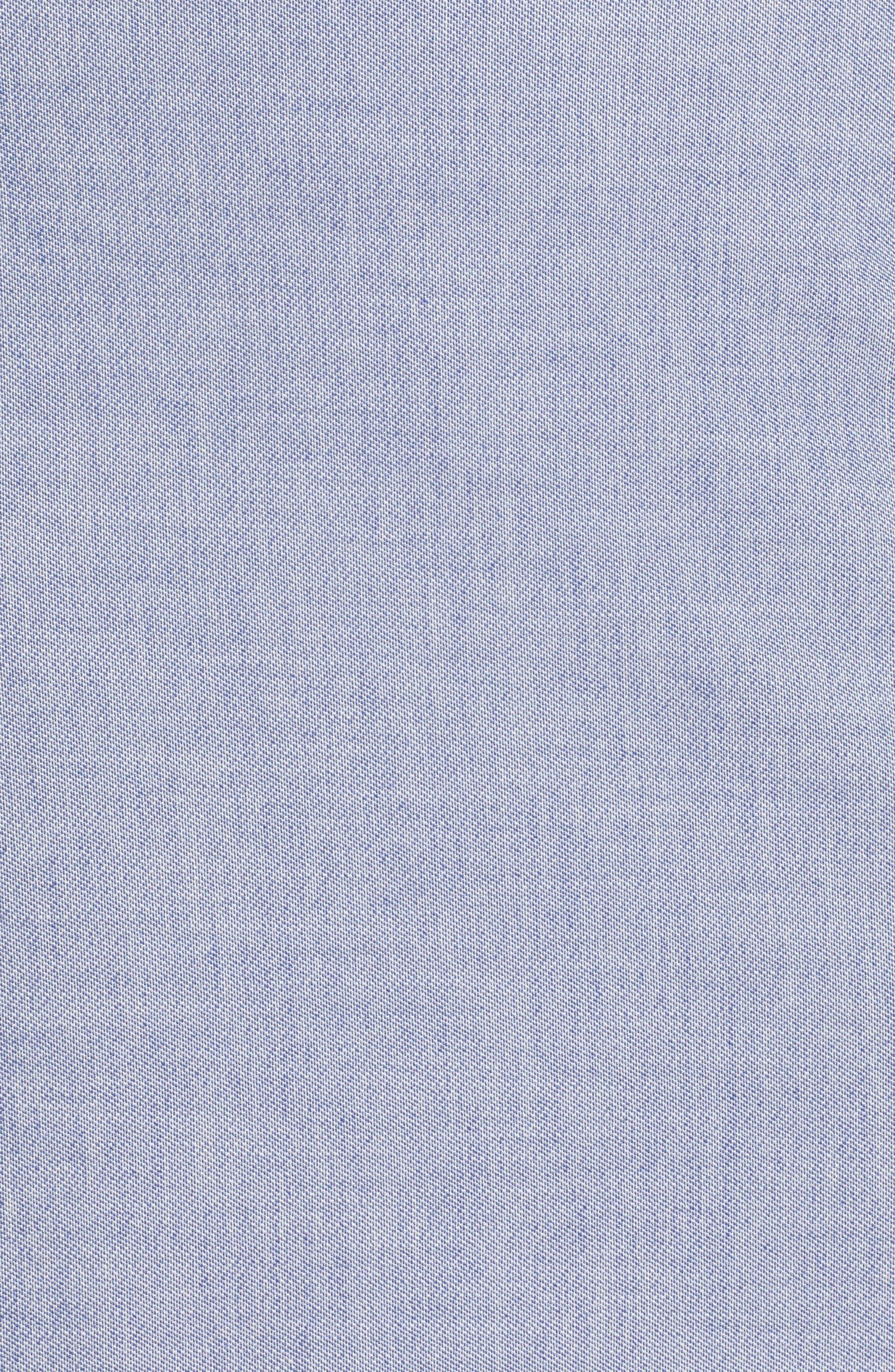 High Waist Chambray Skirt,                             Alternate thumbnail 5, color,                             400