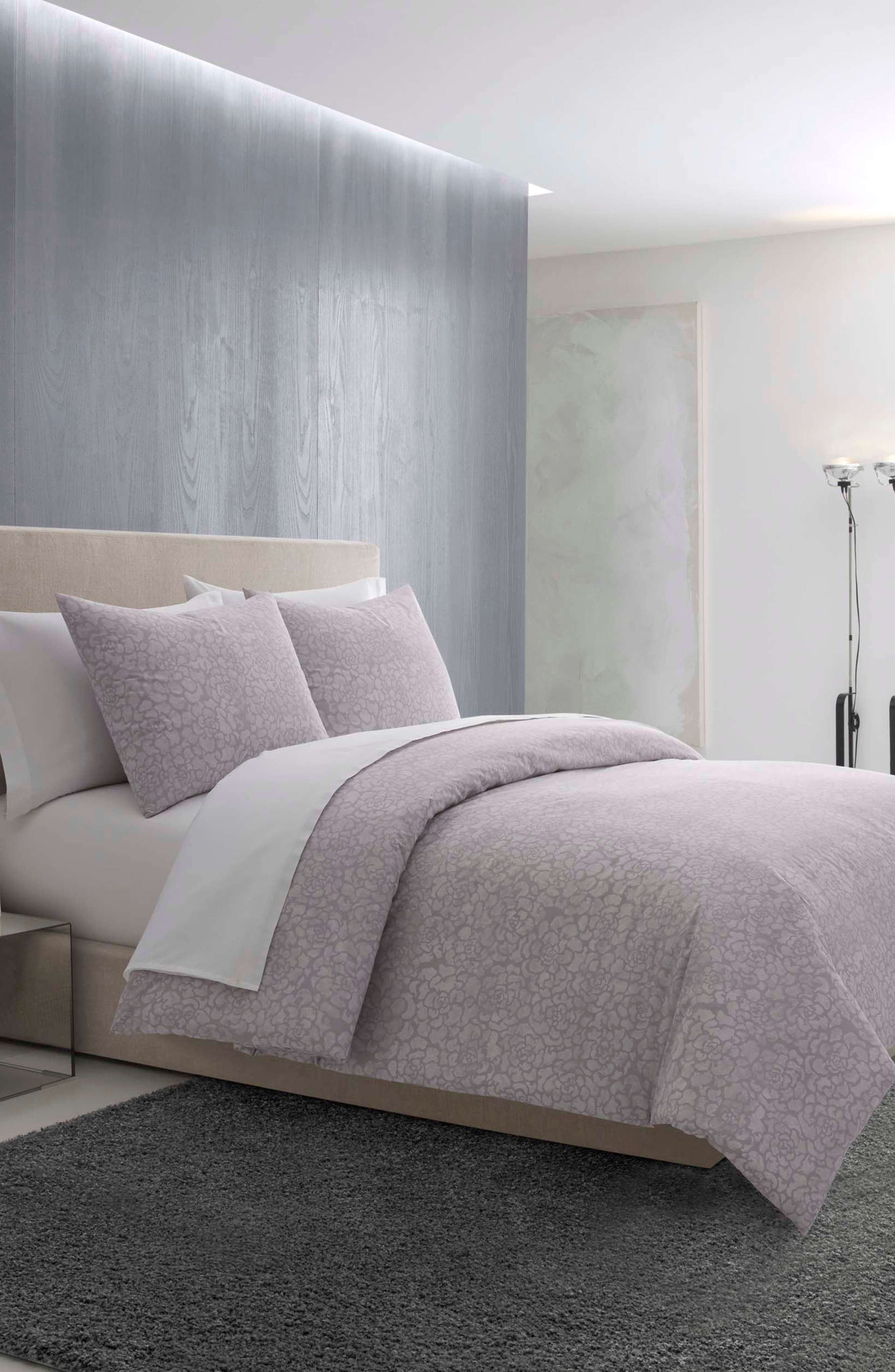 Textured Roses Comforter & Sham Set,                             Alternate thumbnail 3, color,                             LILAC