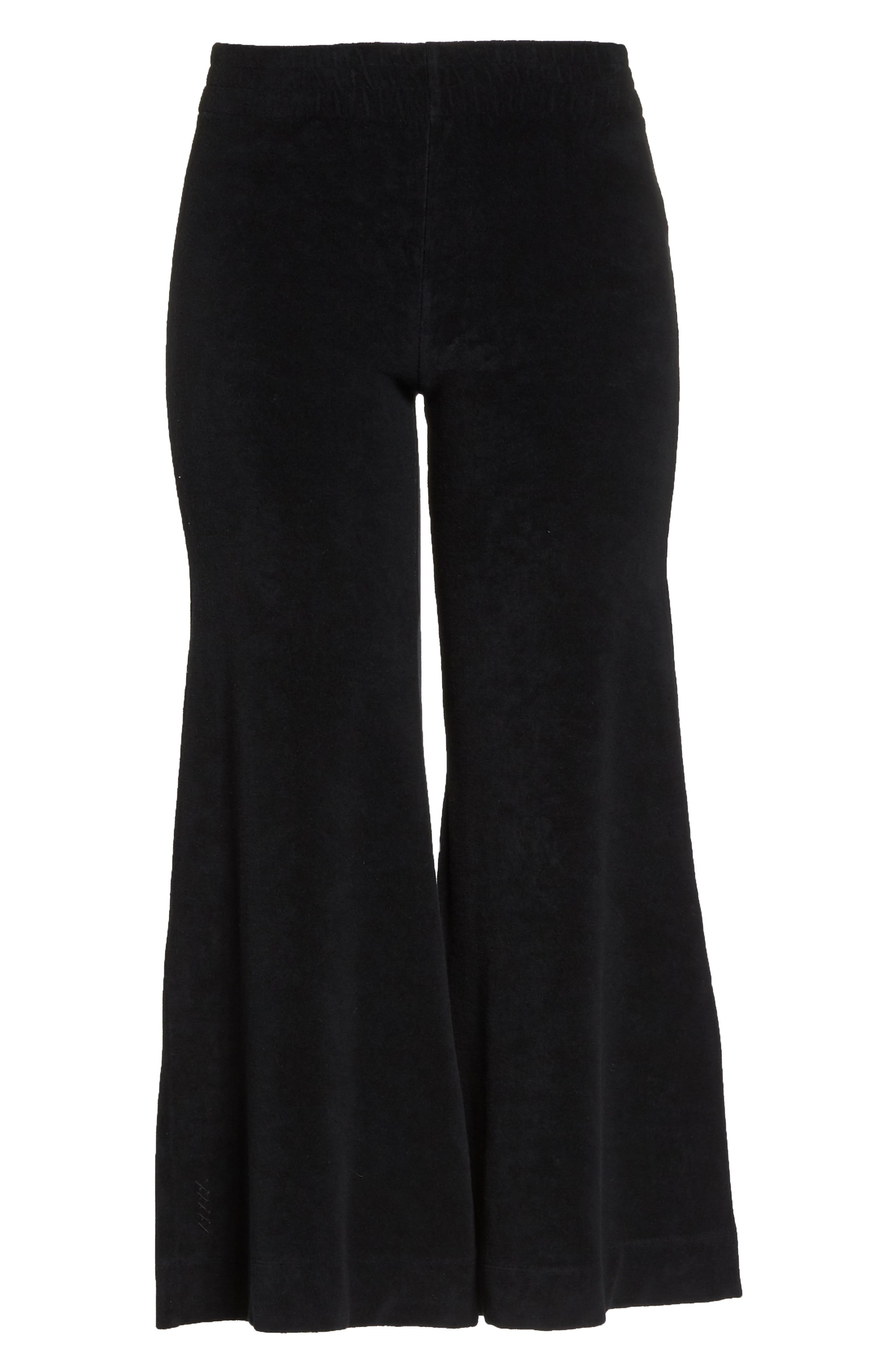 Terry Flare Lounge Pants,                             Alternate thumbnail 6, color,                             001